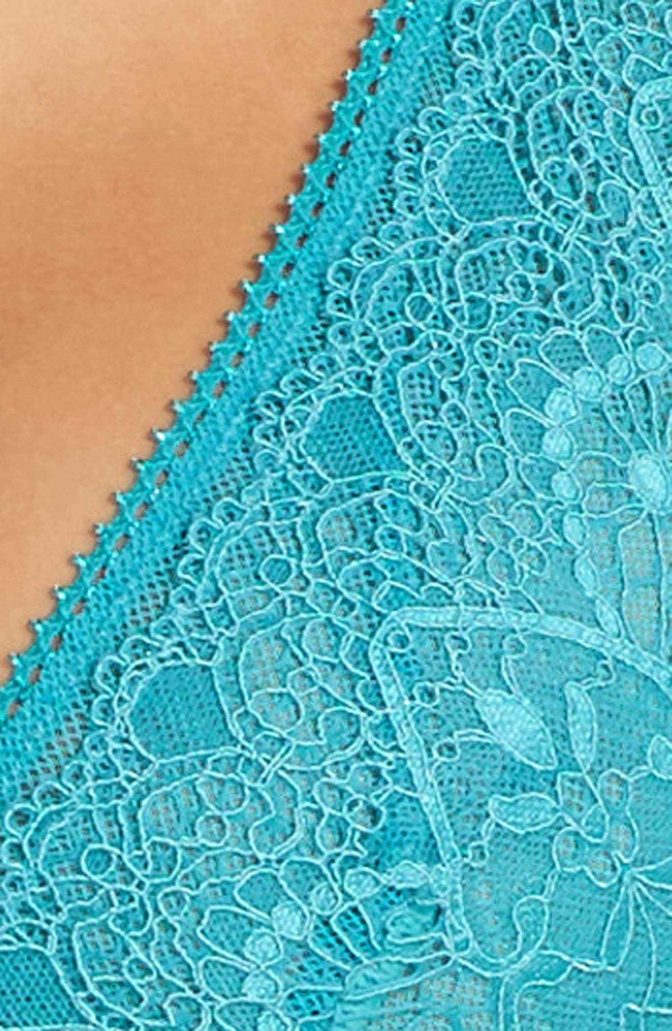 Lace Longline Bralette,                             Alternate thumbnail 22, color,