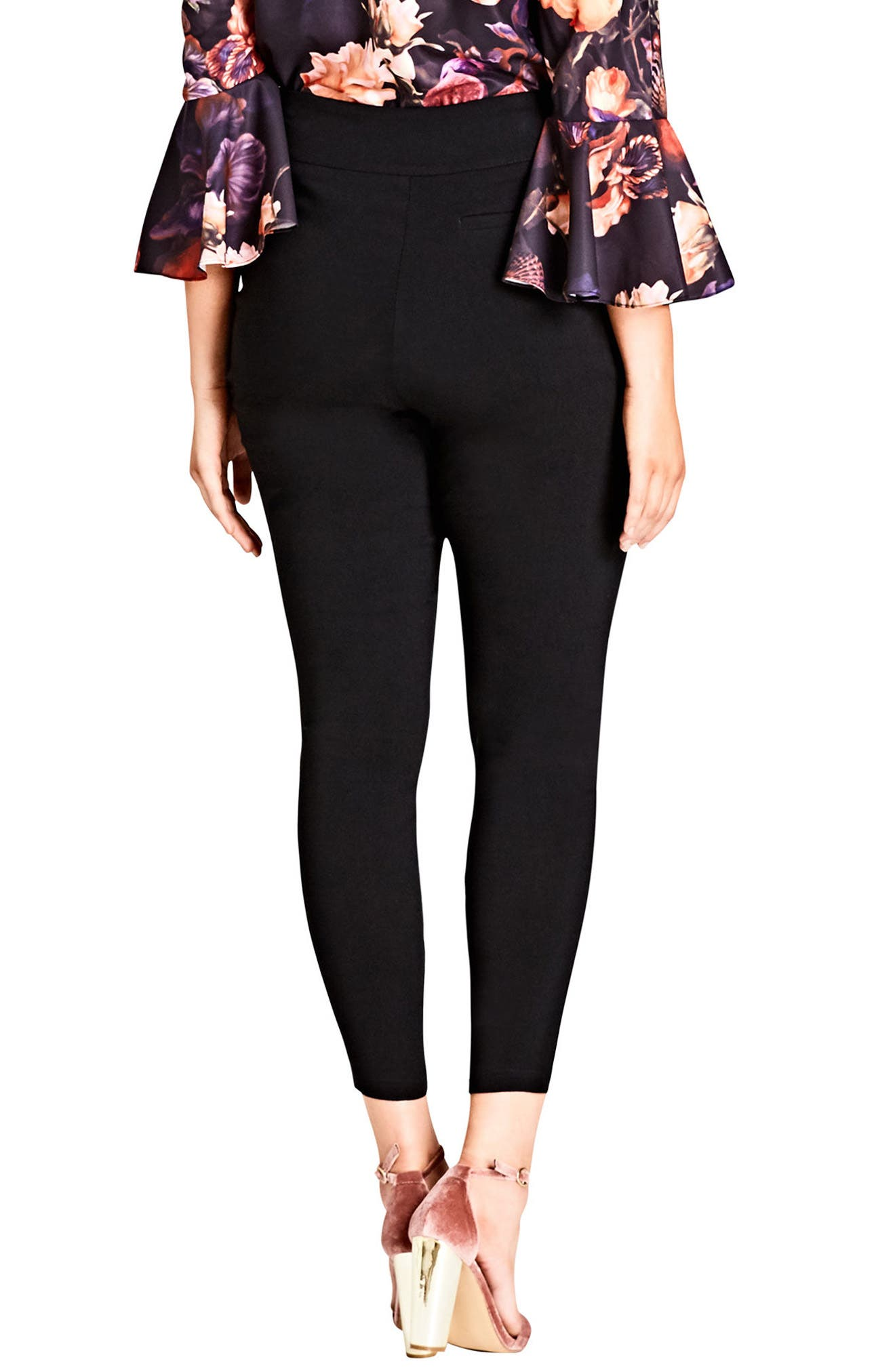 Bengaline Seam Pants,                             Alternate thumbnail 2, color,                             BLACK