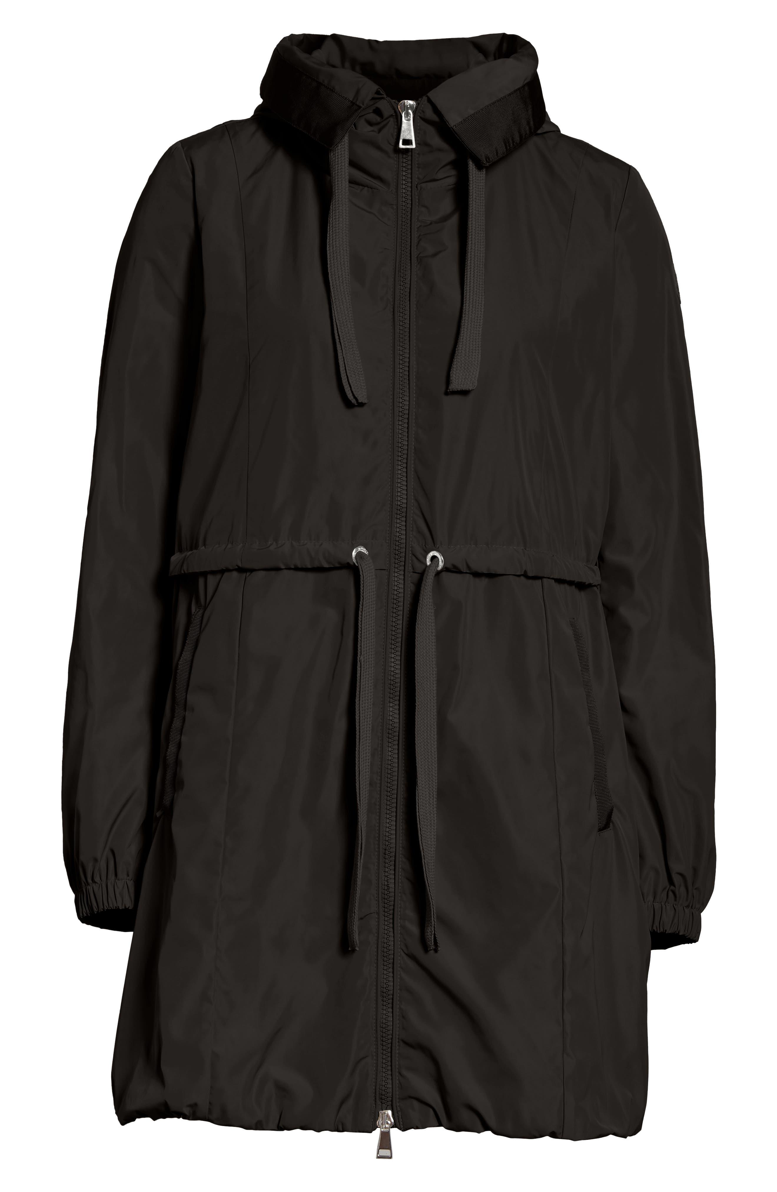 Topaze Water Resistant Hooded Jacket,                             Alternate thumbnail 5, color,                             BLACK