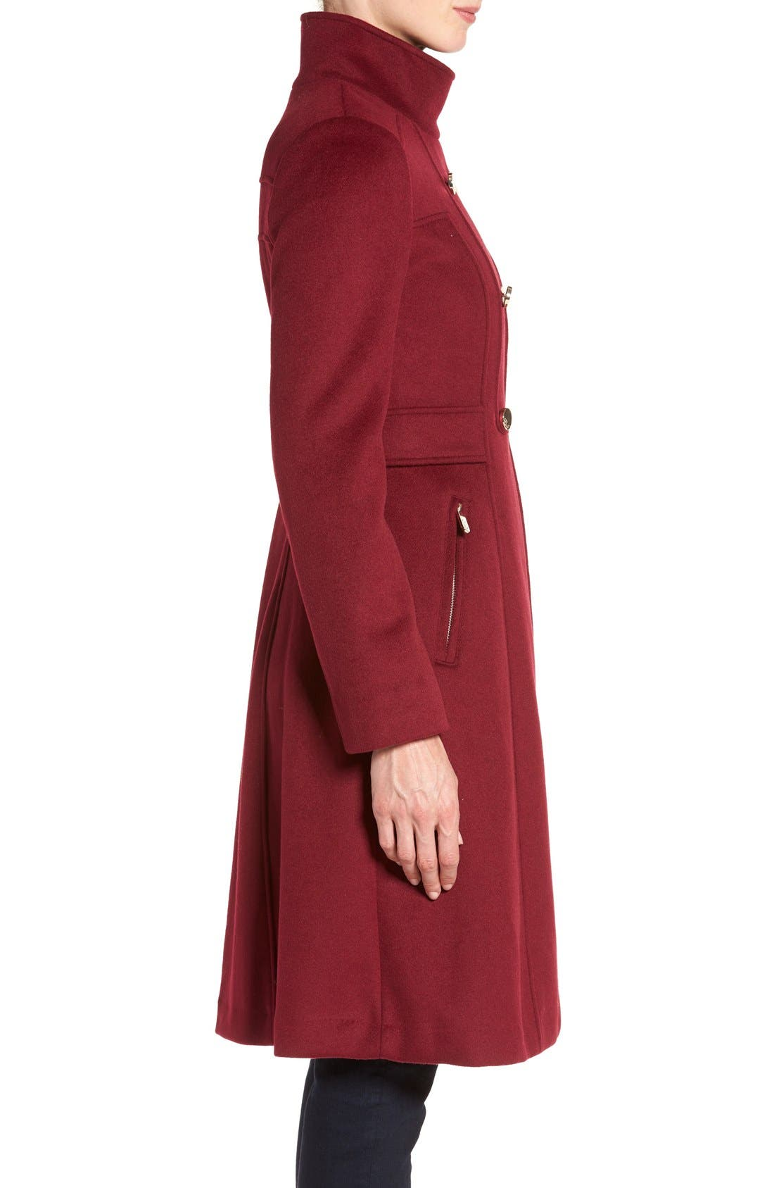 Wool Blend Long Military Coat,                             Alternate thumbnail 15, color,
