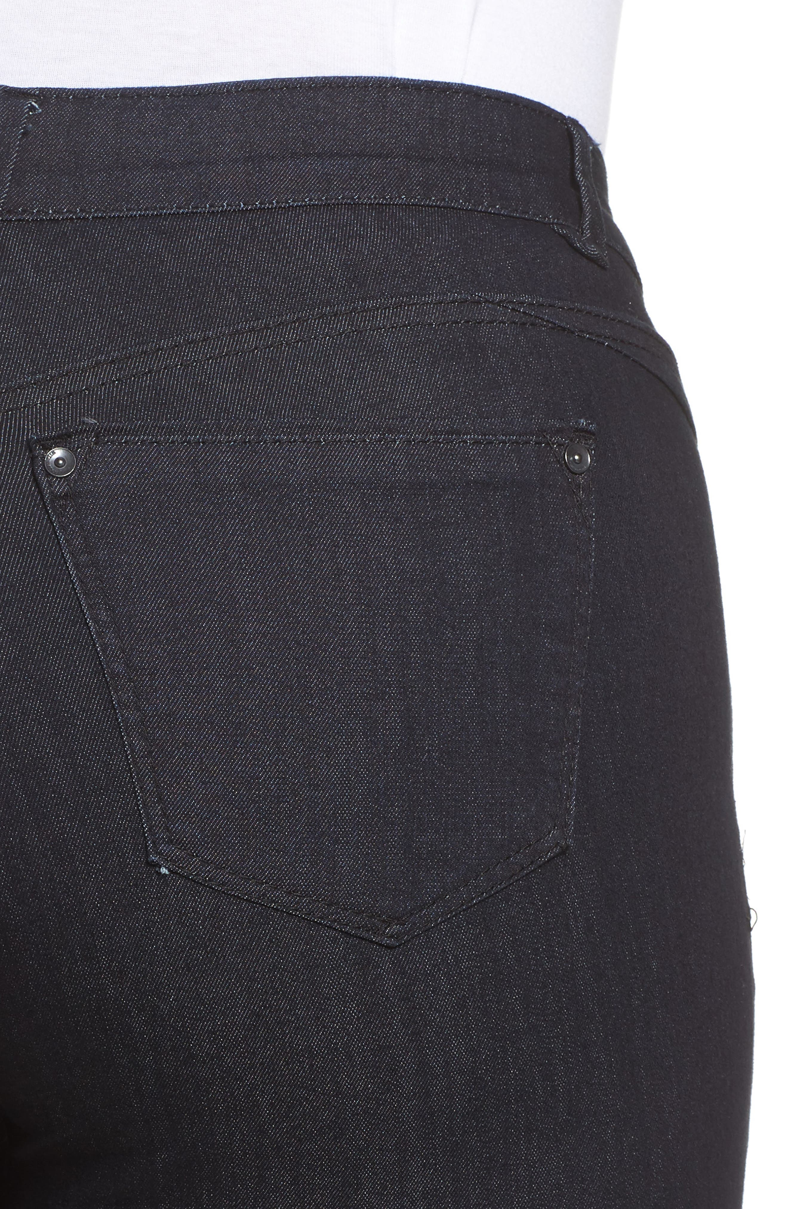 Ab-solution Straight Leg Jeans,                             Alternate thumbnail 4, color,                             INDIGO