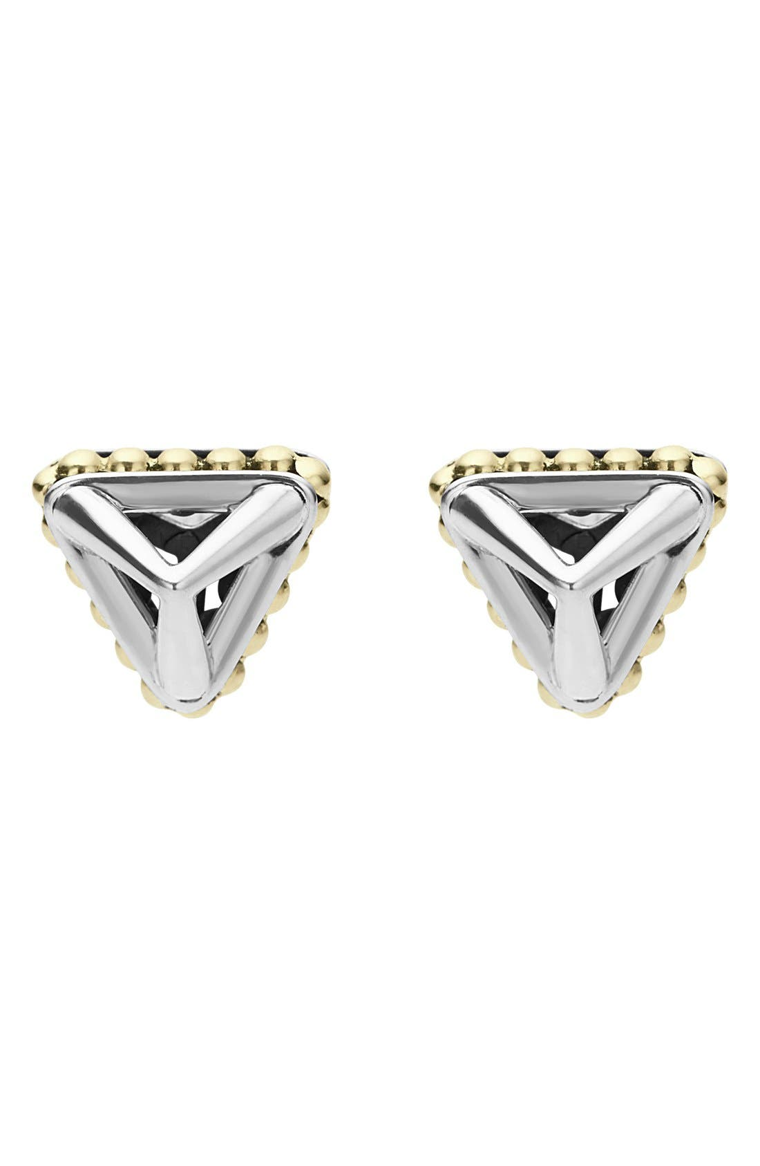 KSL Pyramid Stud Earrings,                             Alternate thumbnail 2, color,                             SILVER/ GOLD