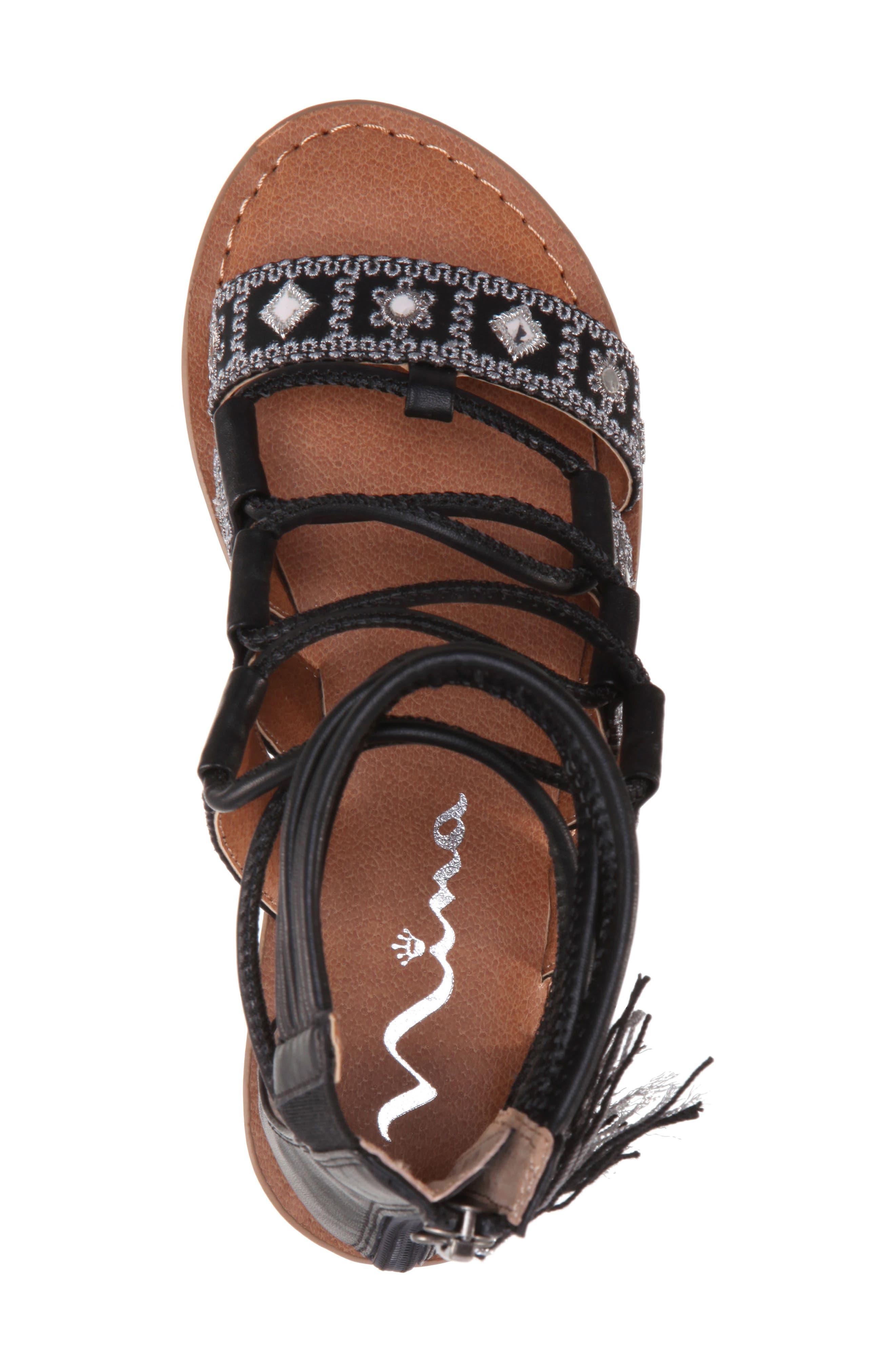 Sherryll Embellished Gladiator Sandal,                             Alternate thumbnail 5, color,                             009