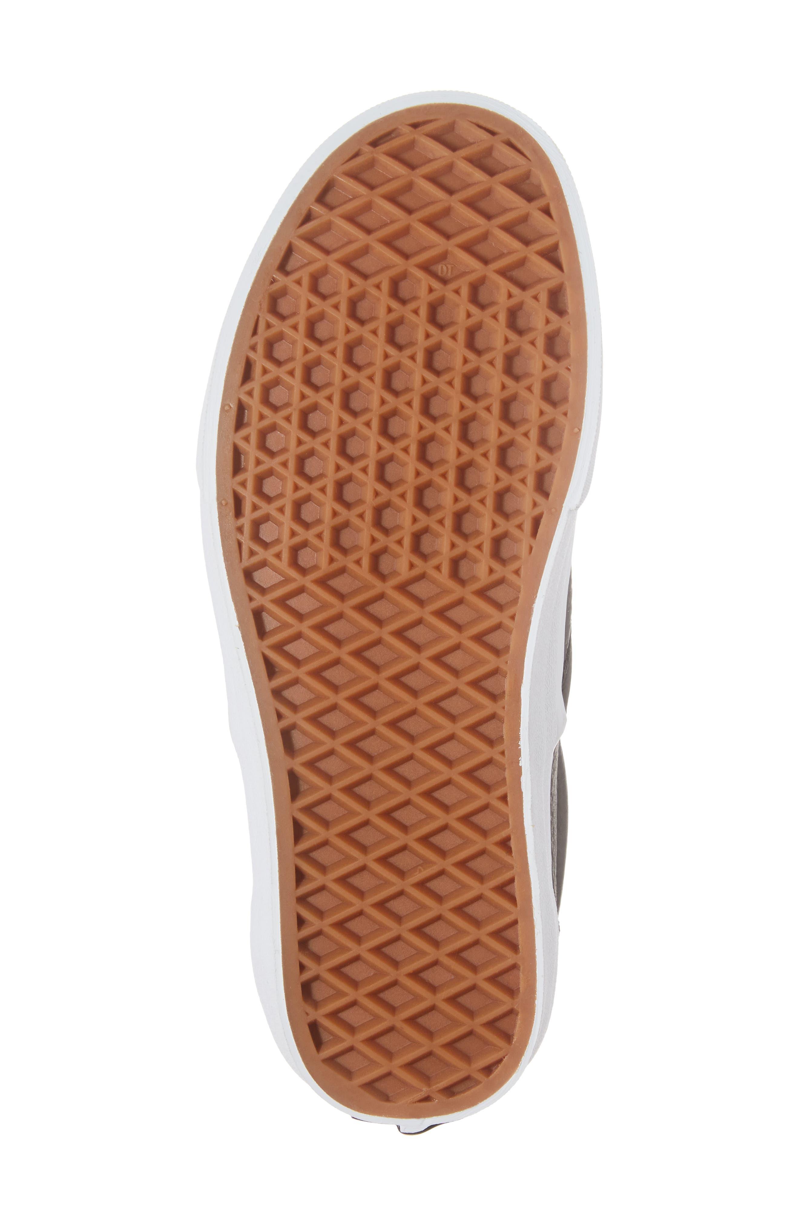 Classic Slip-On Sneaker,                             Alternate thumbnail 6, color,                             BLACK/ TRUE WHITE
