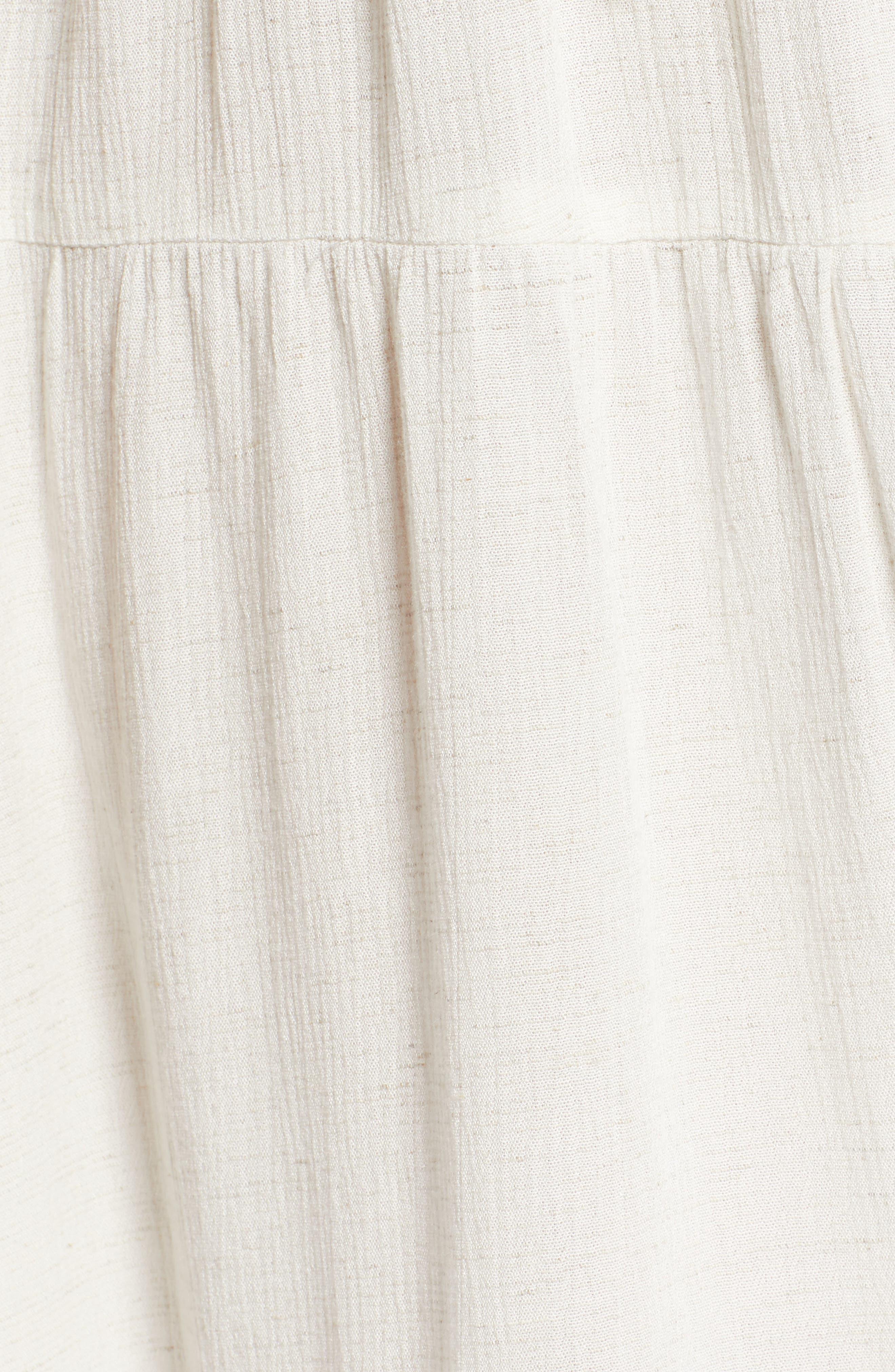 Rickrack Lace-Up Gauze Dress,                             Alternate thumbnail 6, color,                             101