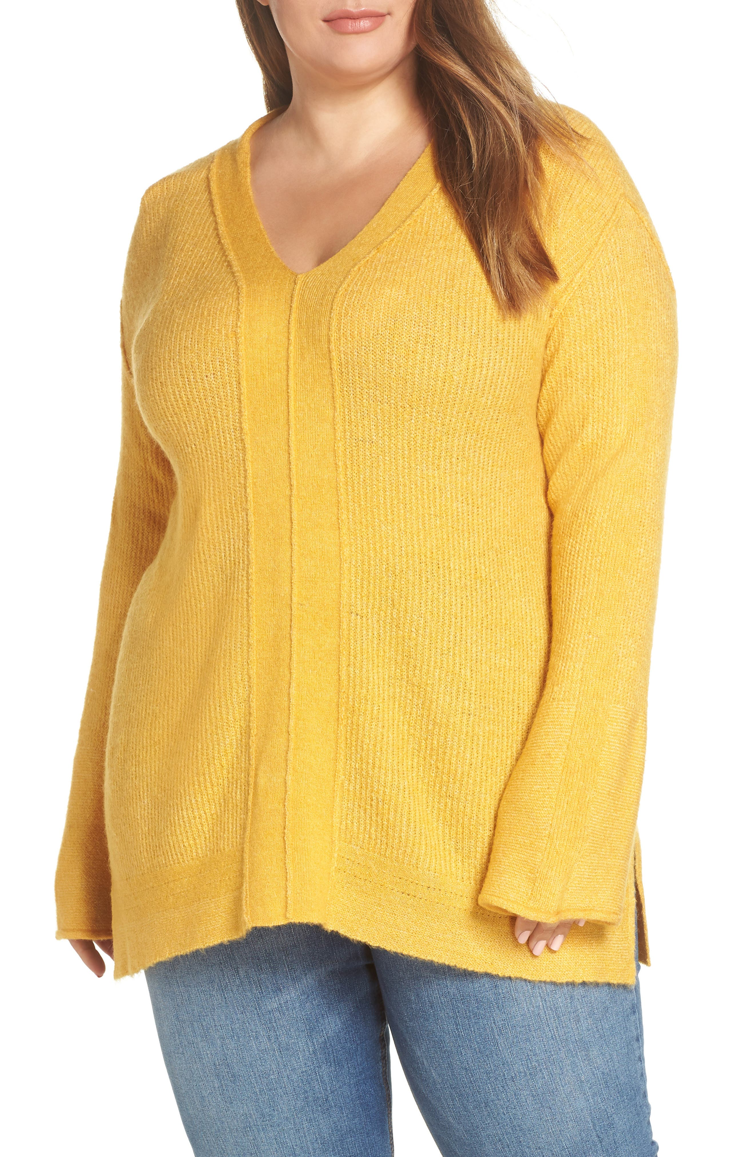V-Neck Sweater, Main, color, 701