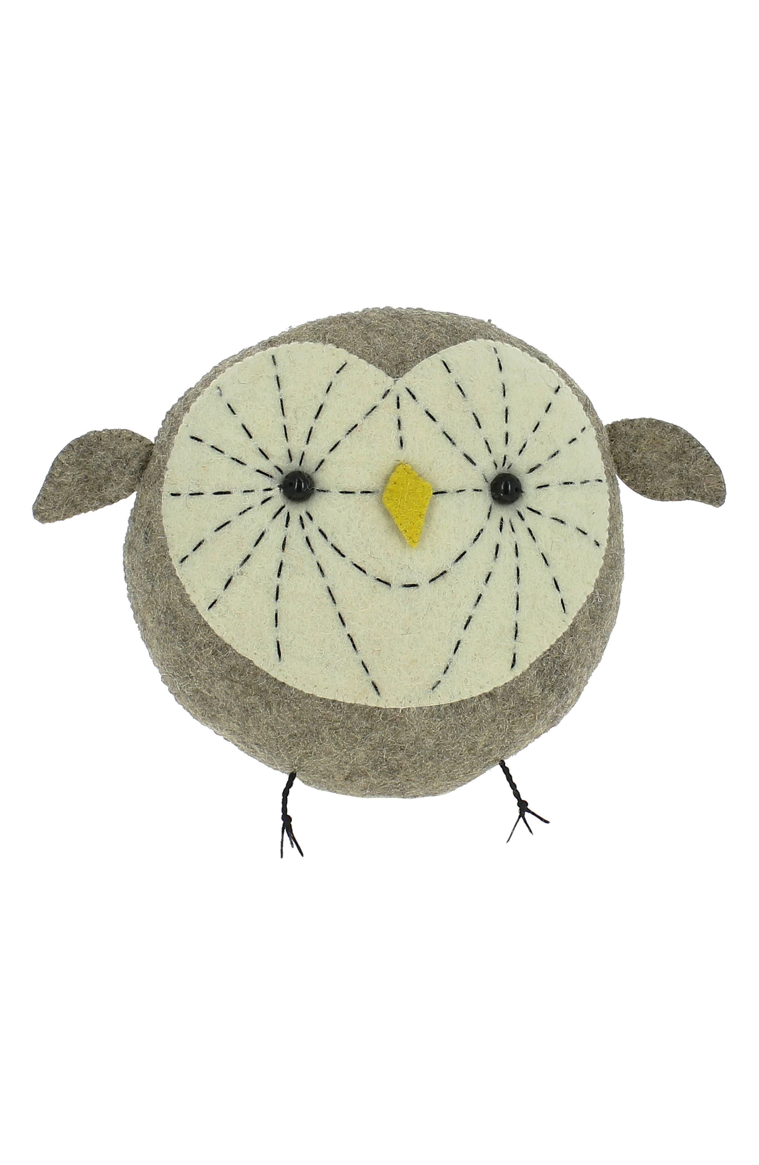 Mini Tootsie Owl Wall Art, Main, color, 020