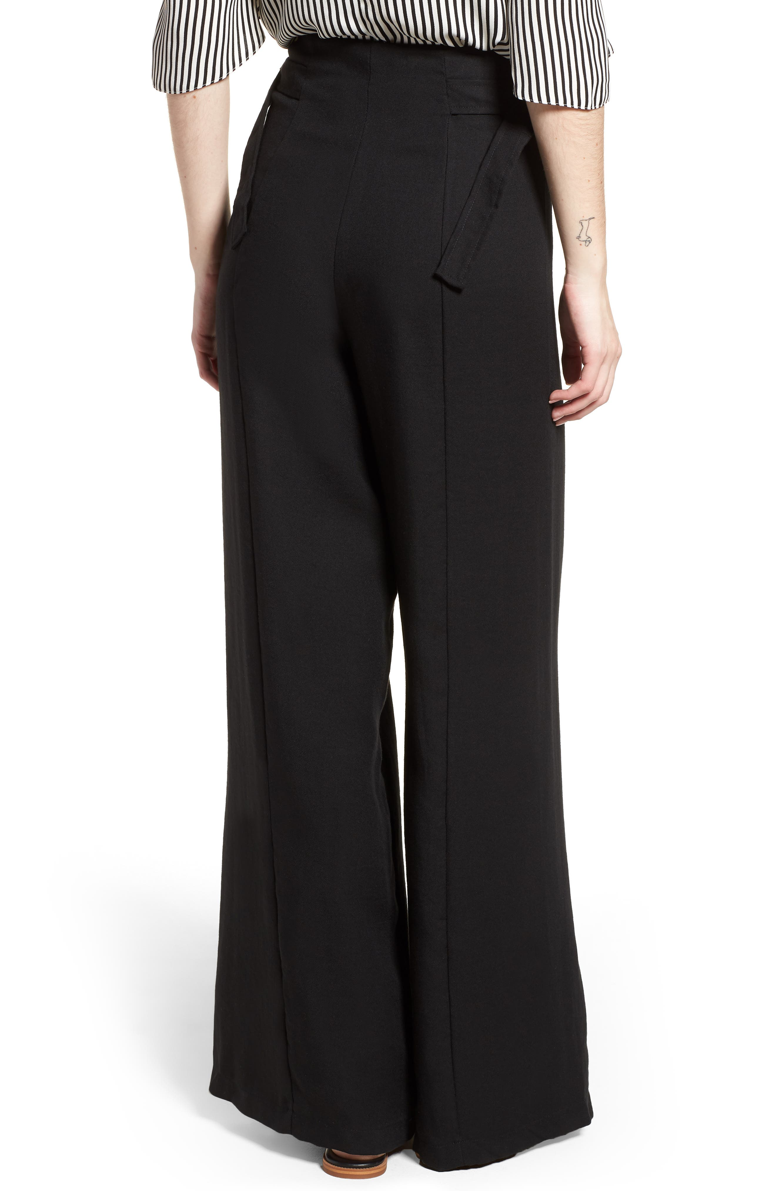 Bishop + Young O-Ring Wide Leg Pants,                             Alternate thumbnail 2, color,                             001
