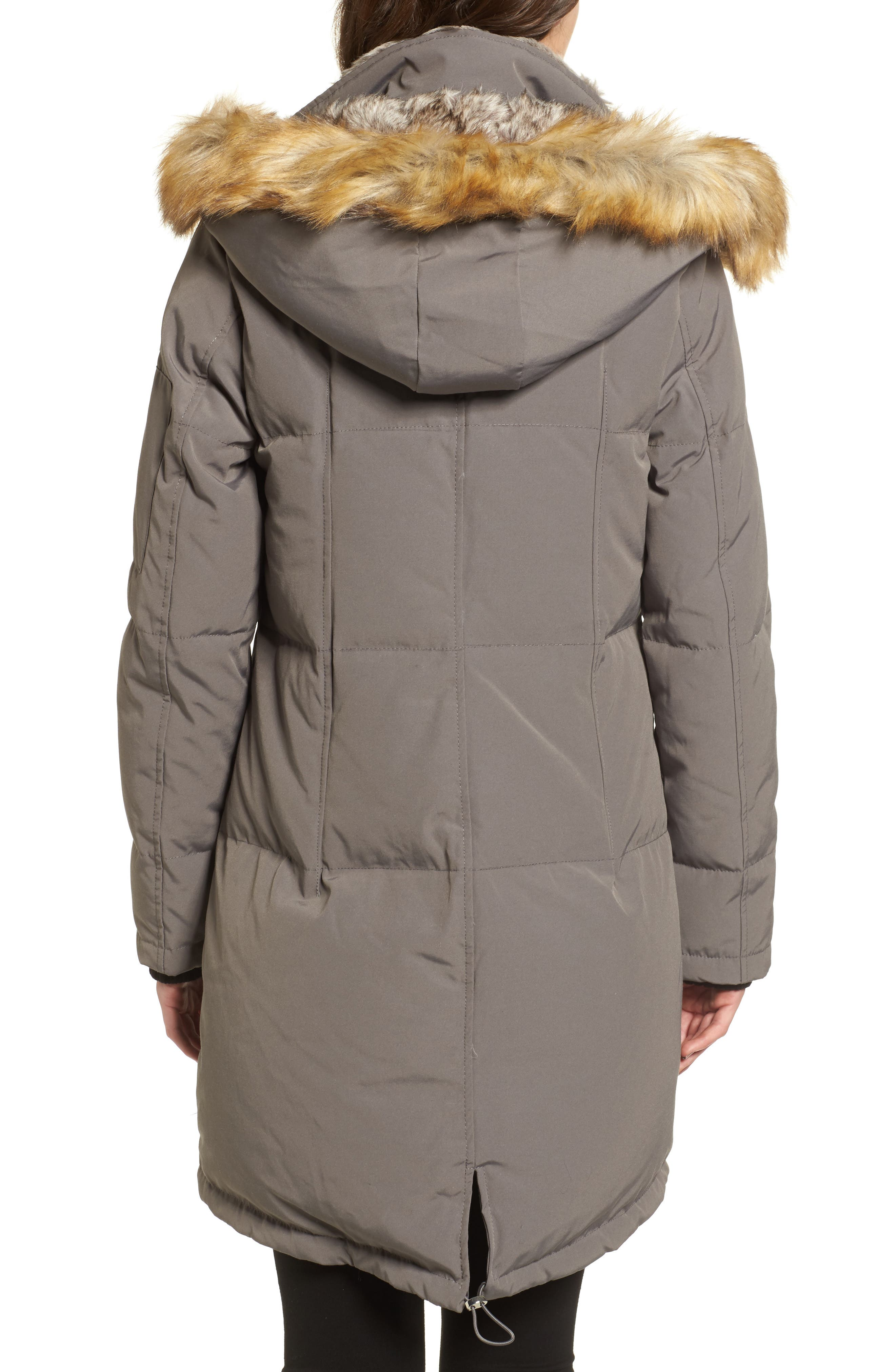 Down & Feather Fill Parka with Faux Fur Trims,                             Alternate thumbnail 2, color,                             020