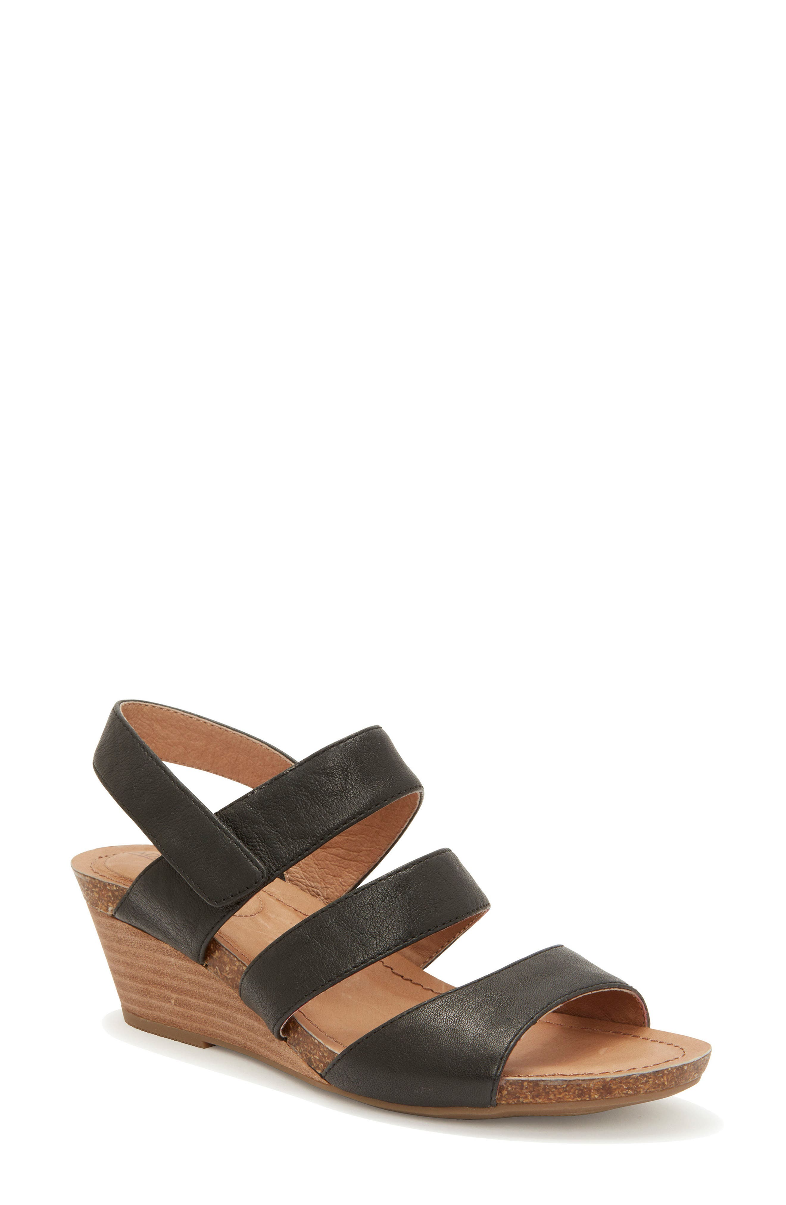 Adam Tucker Tora Wedge Sandal,                             Main thumbnail 1, color,