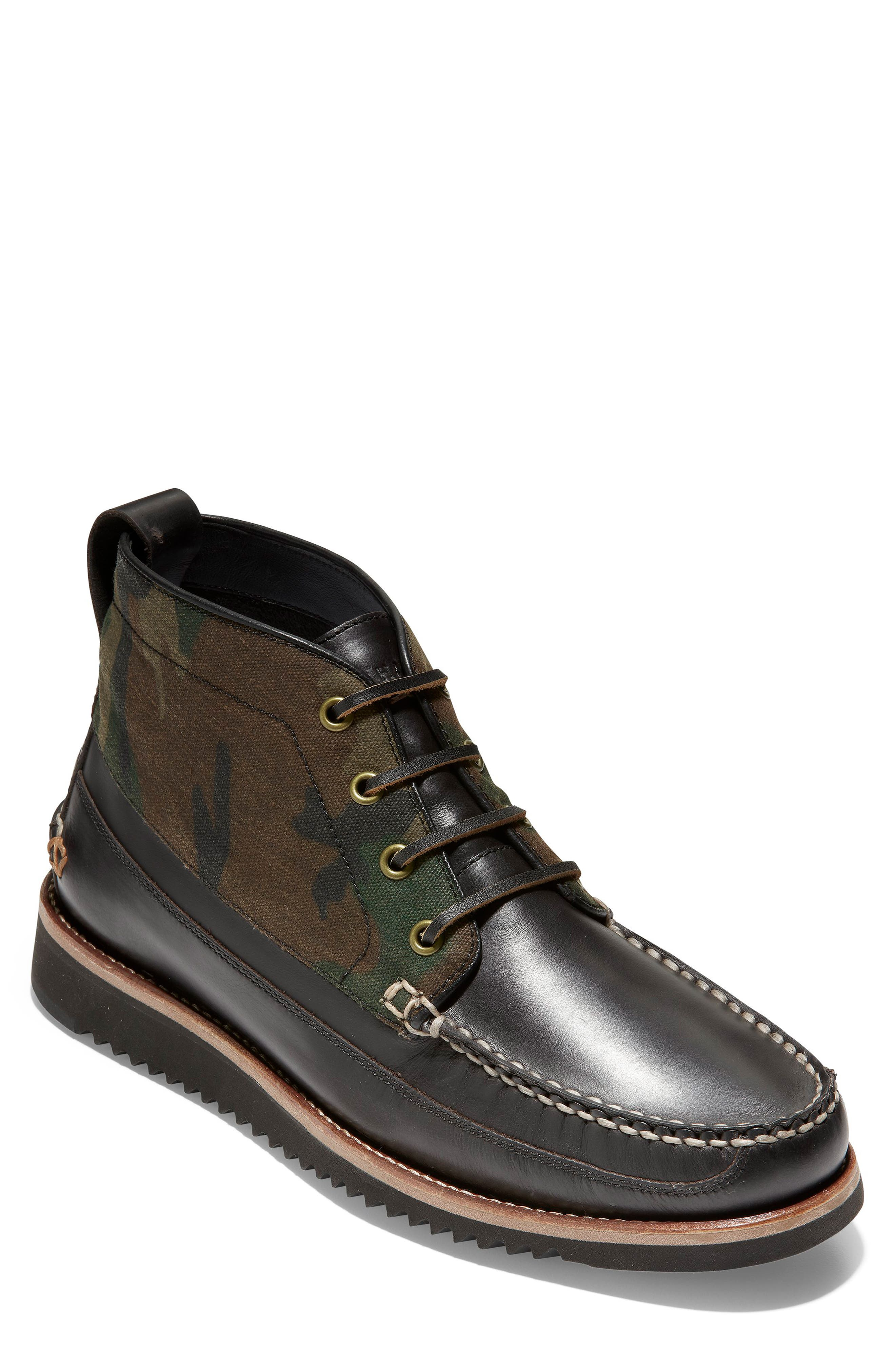 Pinch Moc Toe Boot,                         Main,                         color, CAMO CAVAS