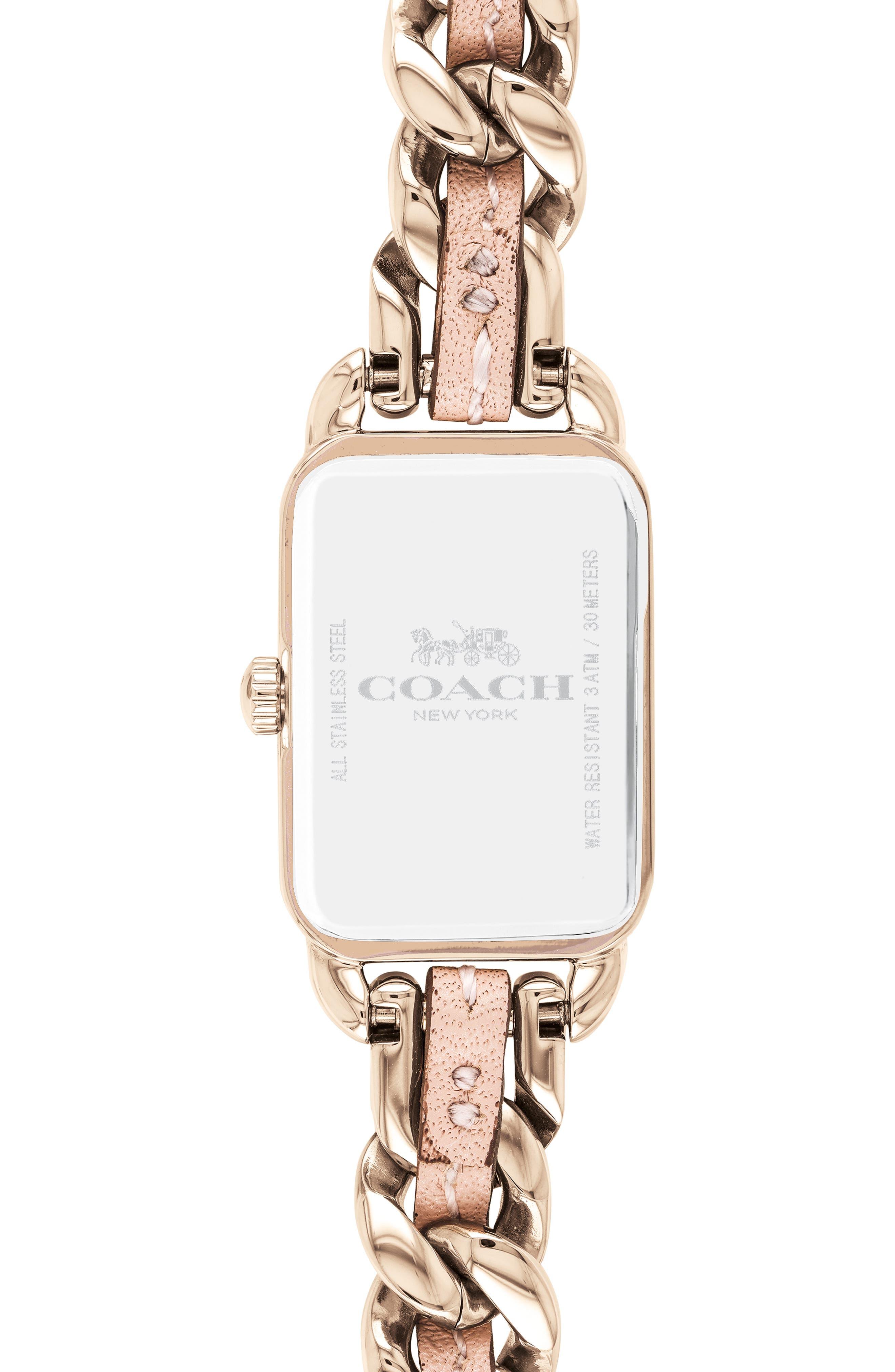 Ludlow Leather Bracelet Watch, 17mm,                             Alternate thumbnail 2, color,                             ROSE GOLD