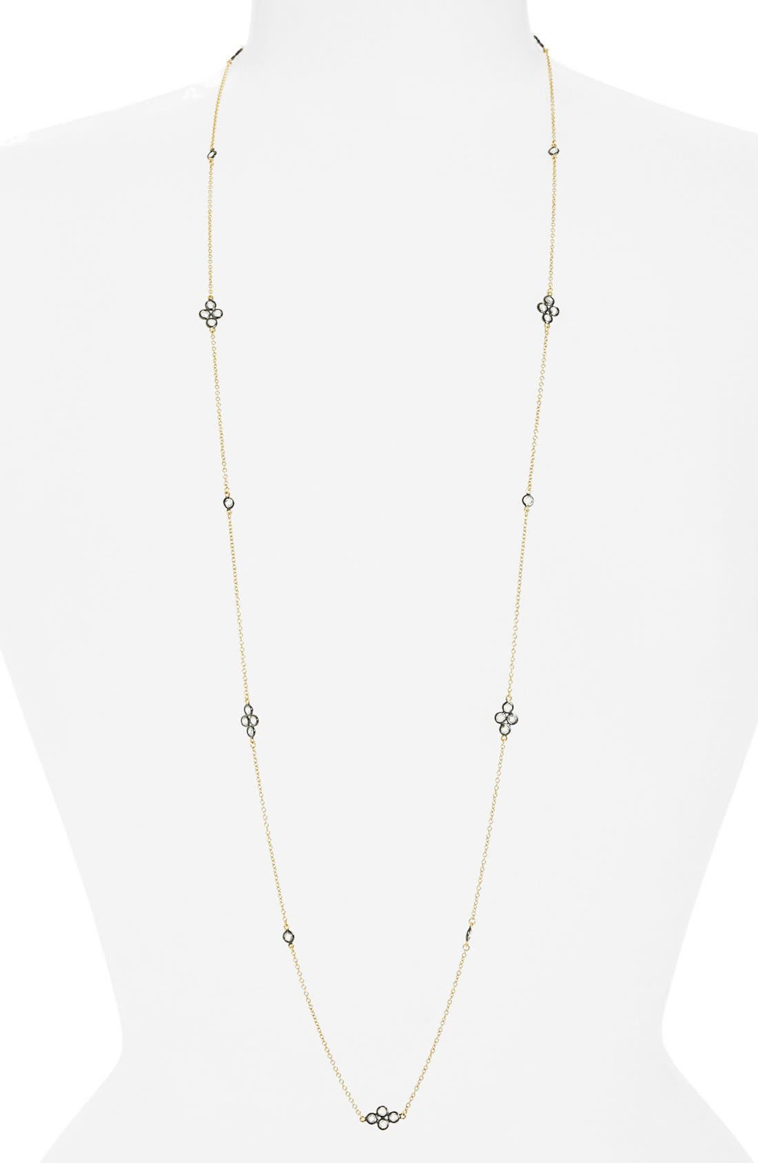 'The Standards' Long Station Necklace,                             Main thumbnail 1, color,                             GOLD/ GUNMETAL