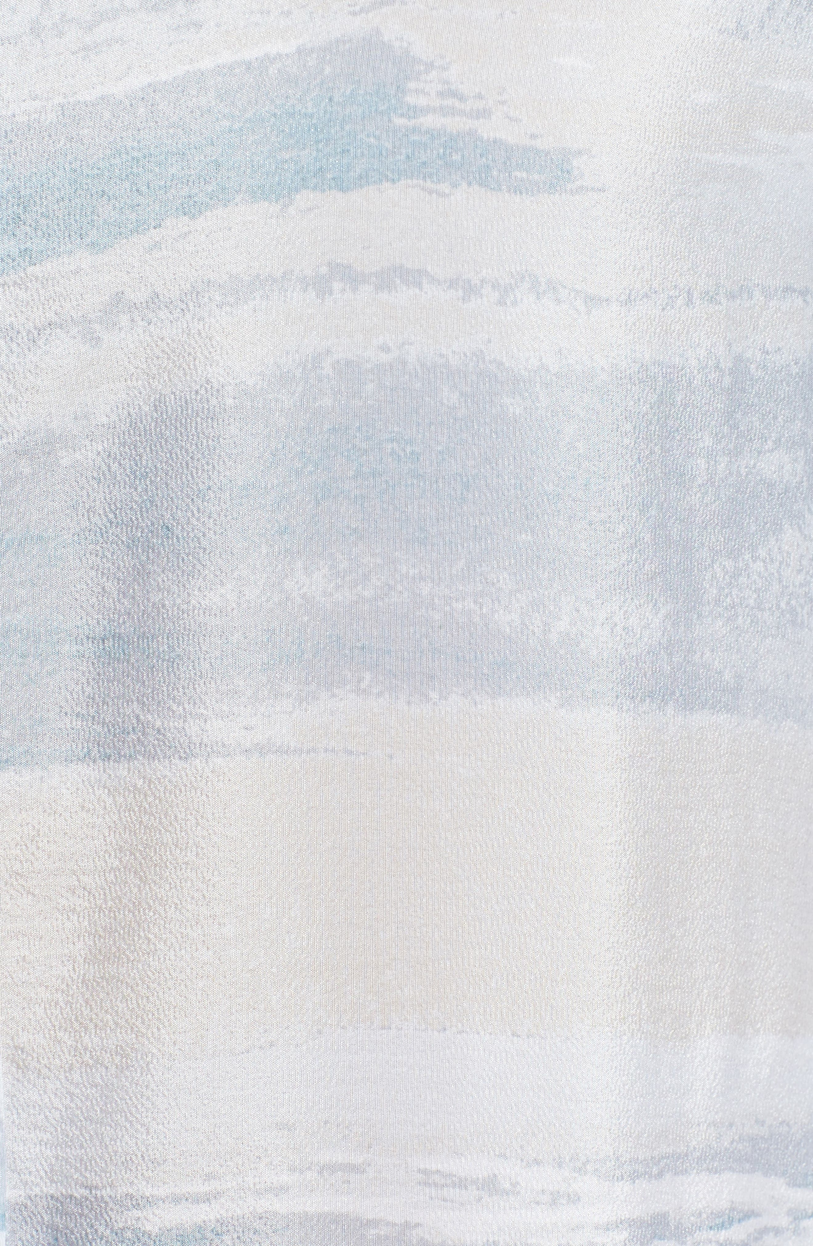Watercolor Silk Blend Top,                             Alternate thumbnail 5, color,