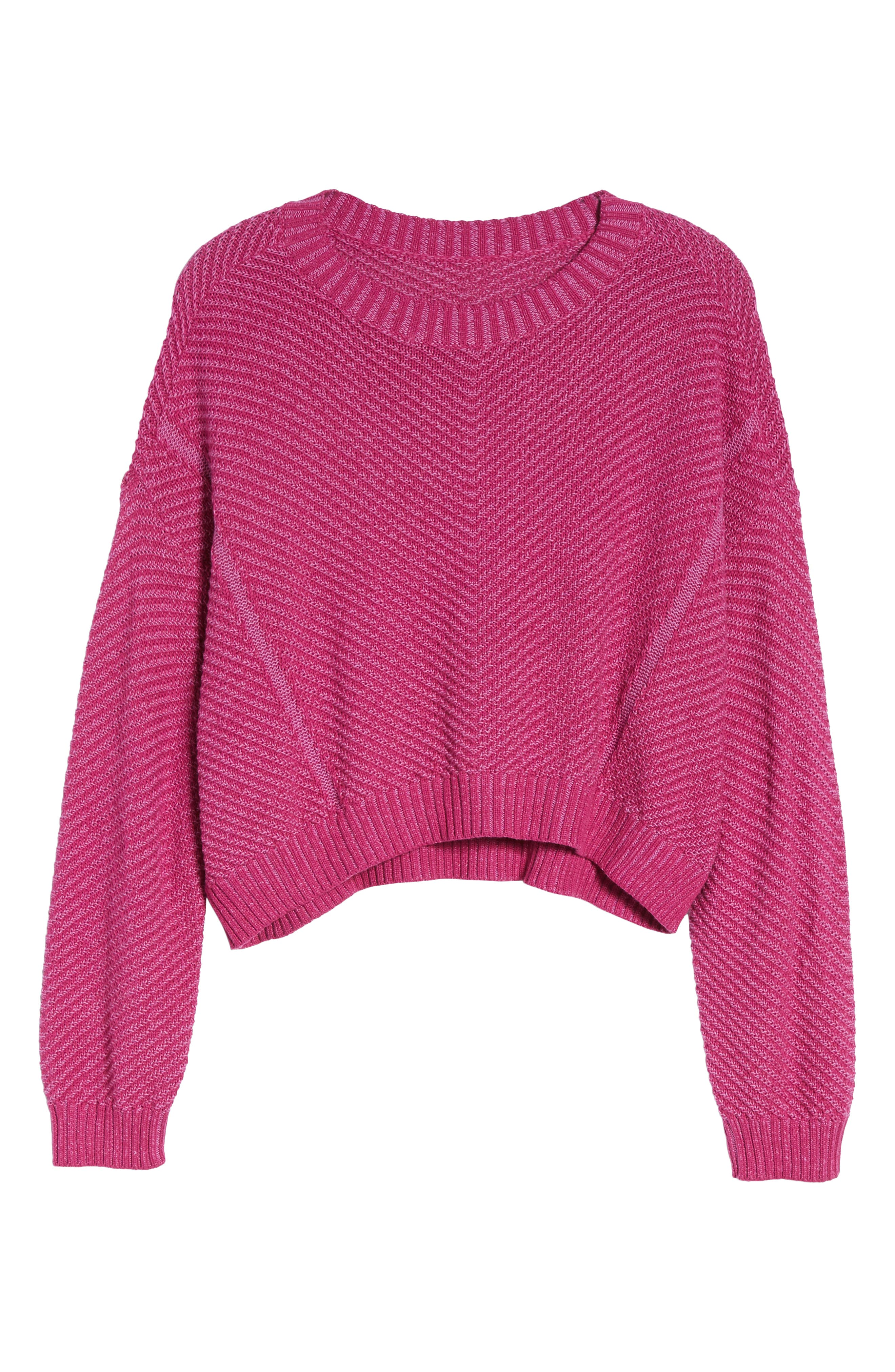 Plaited Drop Shoulder Sweater,                             Alternate thumbnail 12, color,