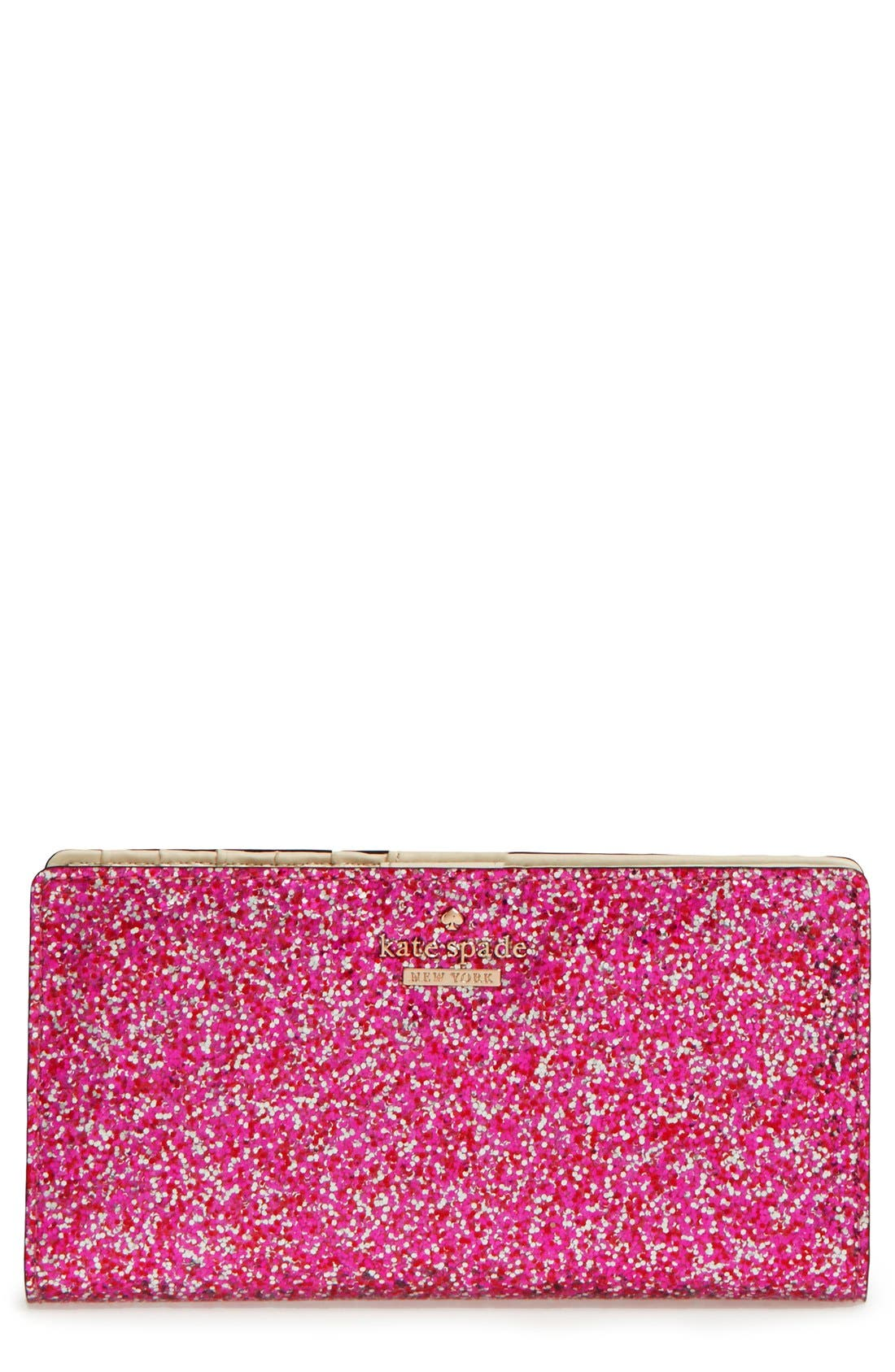 'glitter bug - stacy' snap wallet,                             Main thumbnail 1, color,                             600