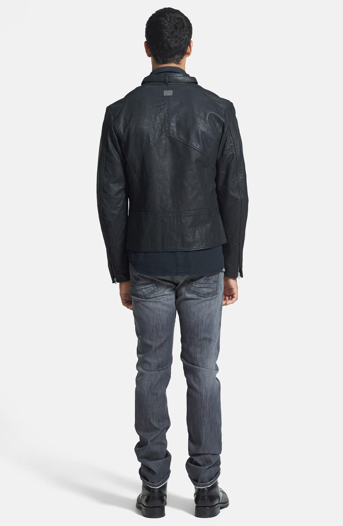 VOLCOM,                             'Upgrade' Slim Fit Long Sleeve Thermal Shirt,                             Alternate thumbnail 3, color,                             020