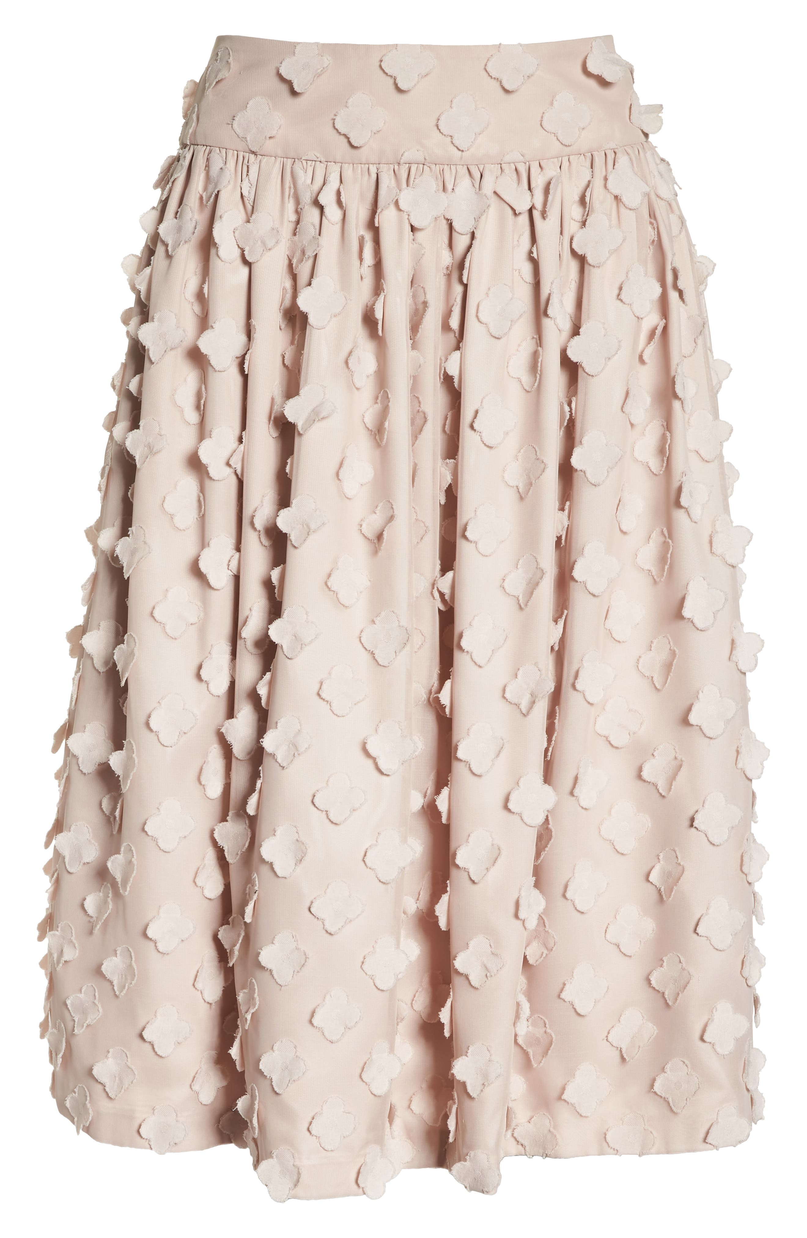 Flower Texture Gathered Skirt,                             Alternate thumbnail 6, color,                             BLUSH