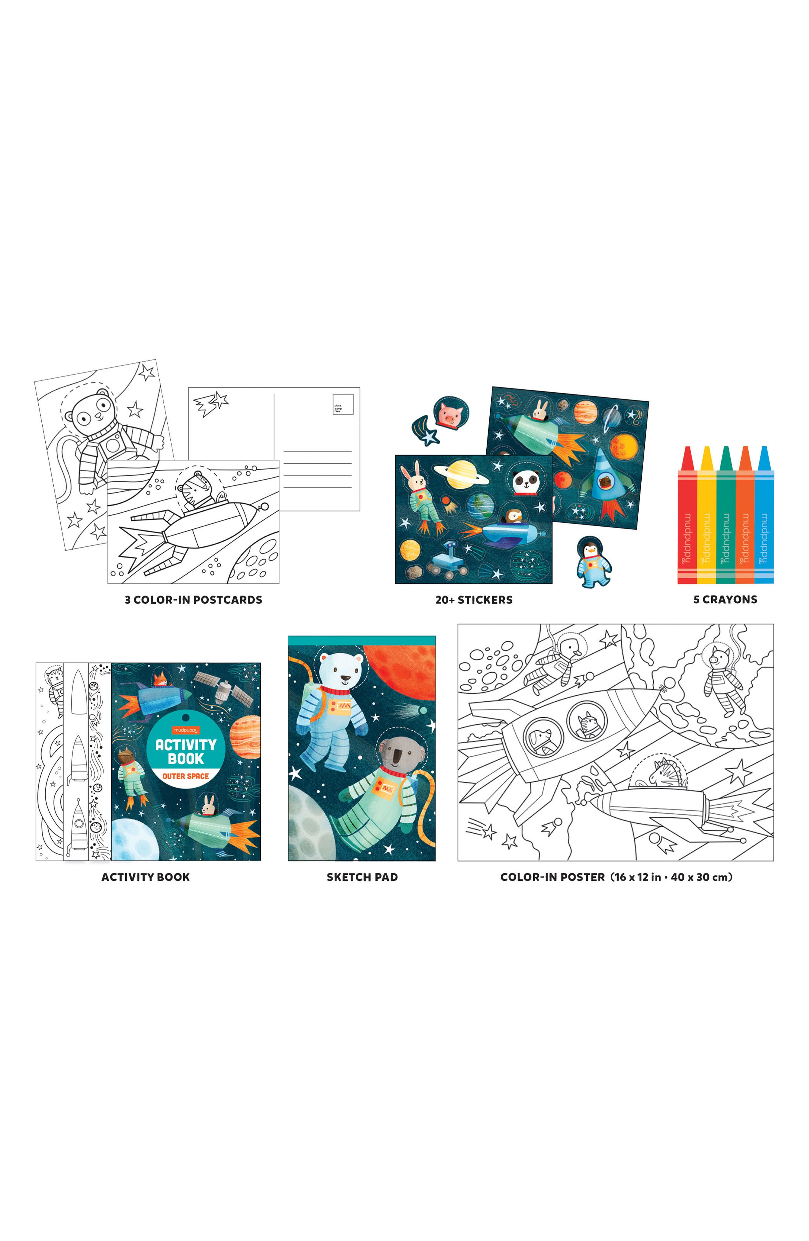 Chronicle Books Outer Space Activity Pack To Go Activity Set