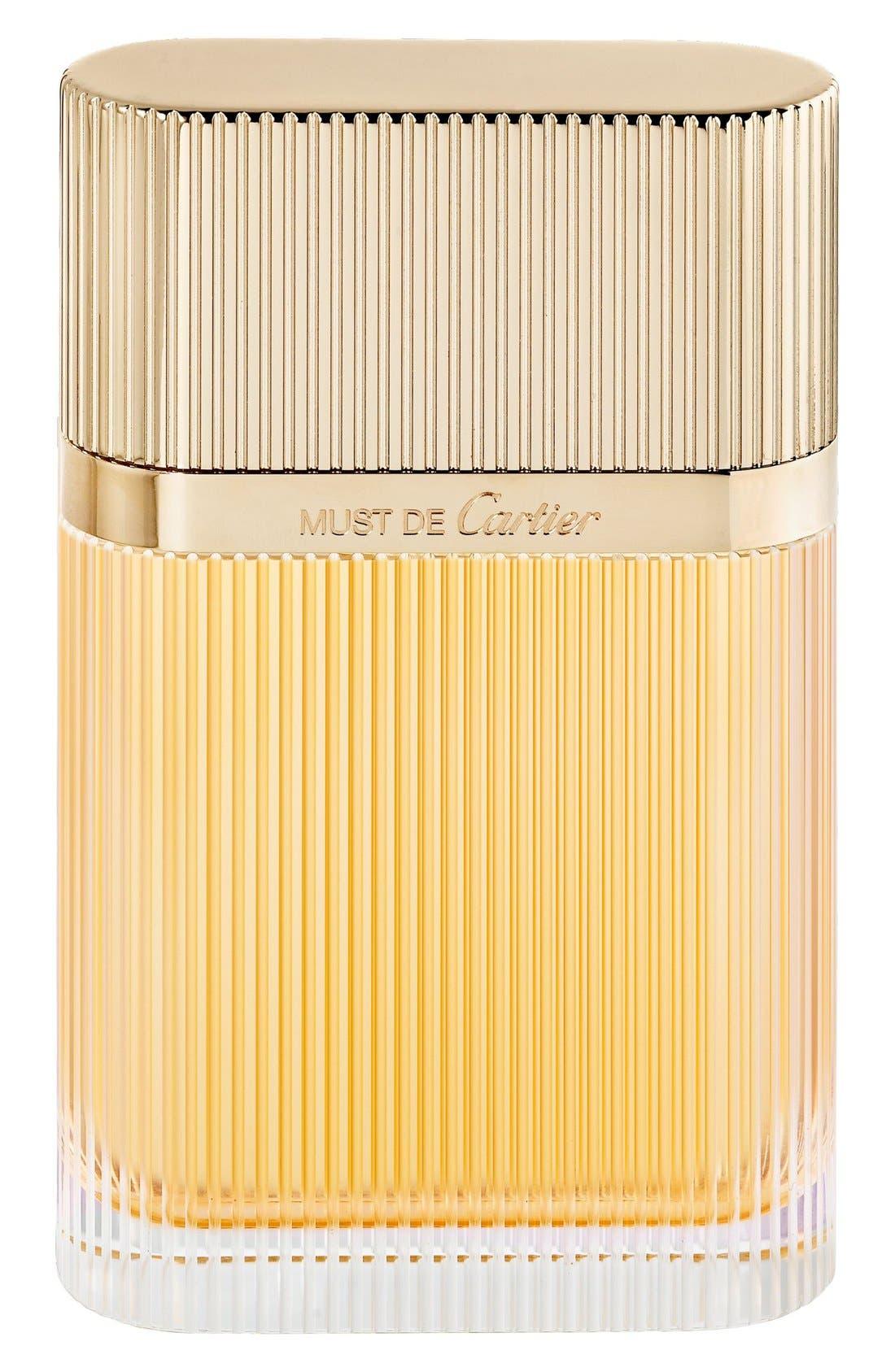 Must de Cartier Gold Eau de Parfum,                             Alternate thumbnail 3, color,                             NO COLOR