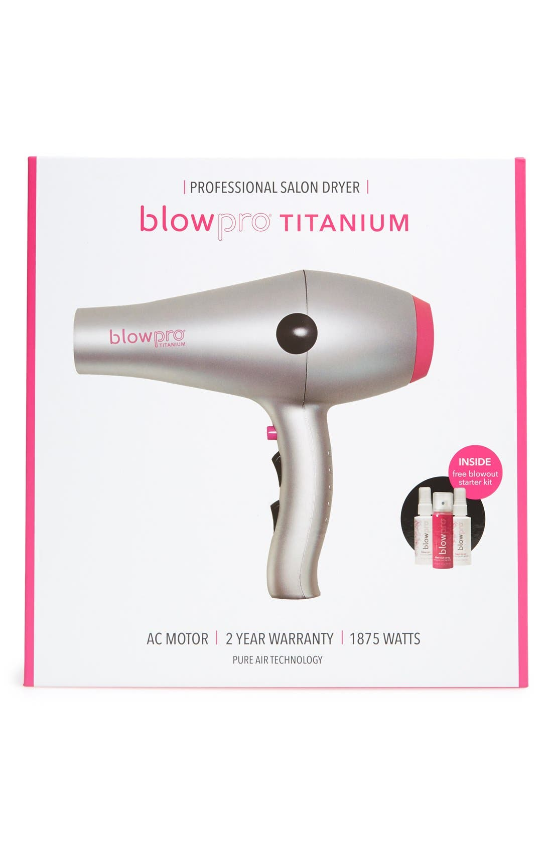 professional titanium blow dryer,                             Alternate thumbnail 3, color,                             NO COLOR