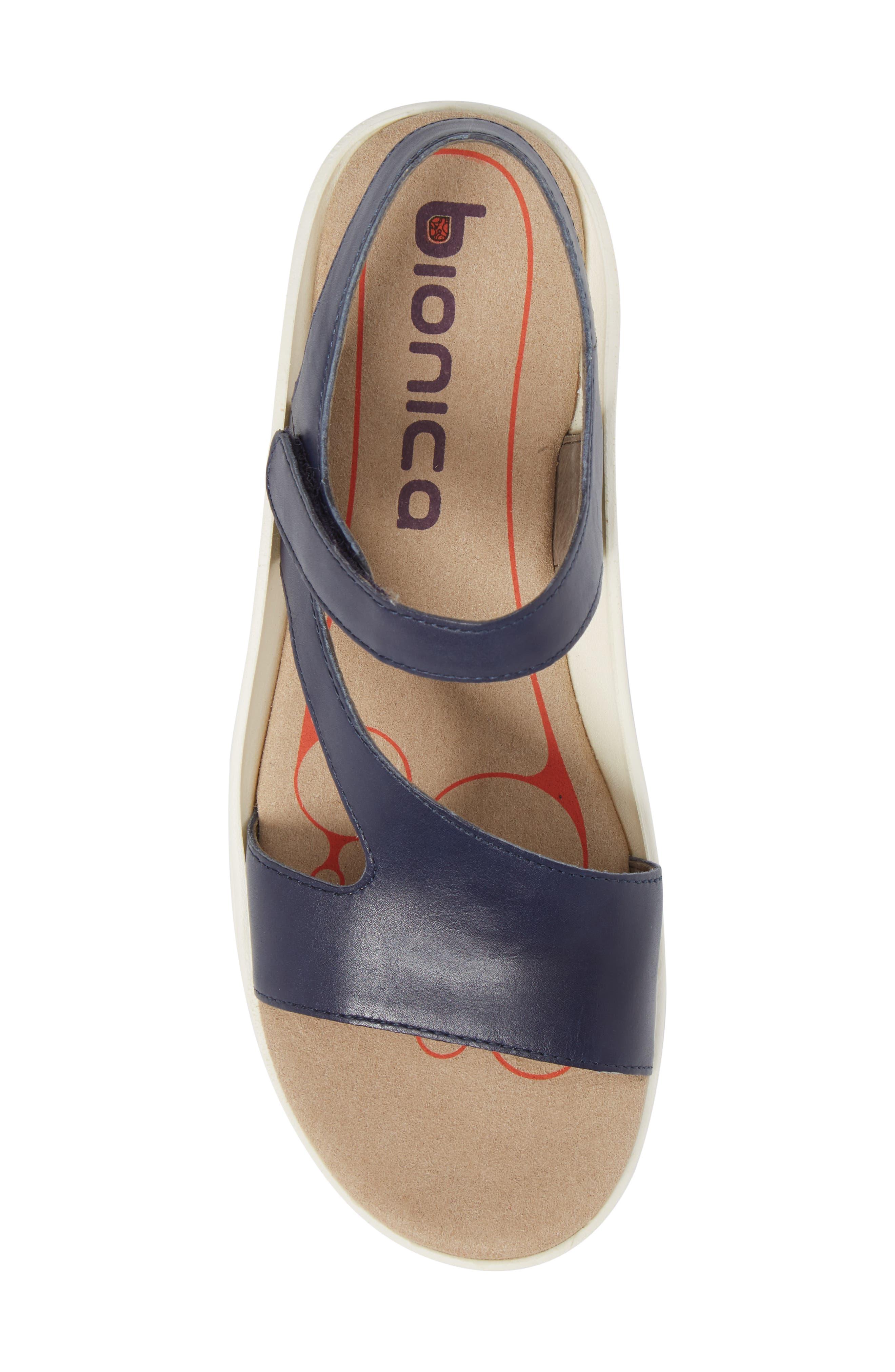 Cybele Platform Sandal,                             Alternate thumbnail 5, color,                             PEACOAT NAVY LEATHER