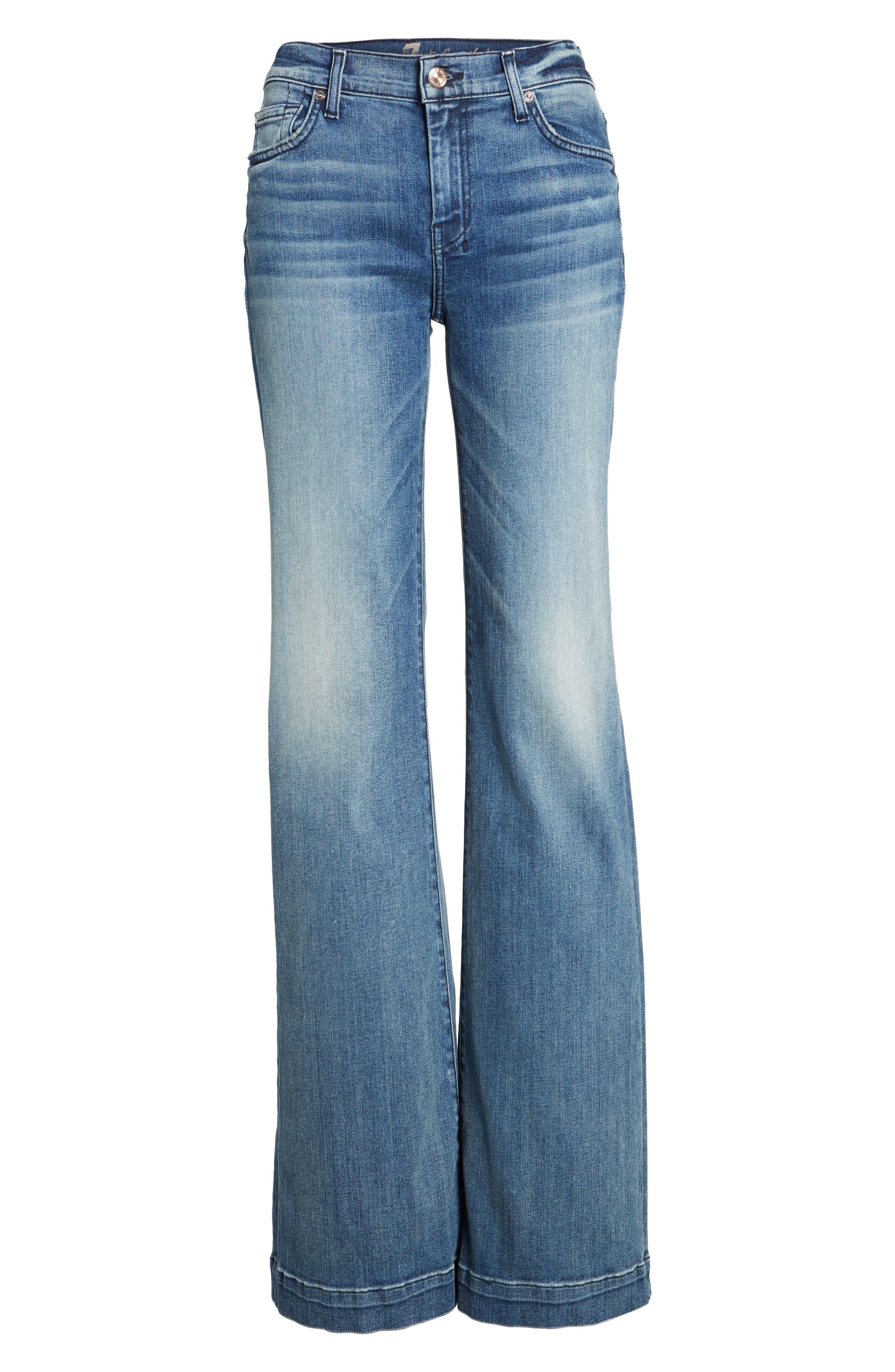 Tailorless Dojo Wide Leg Jeans,                             Alternate thumbnail 6, color,                             402