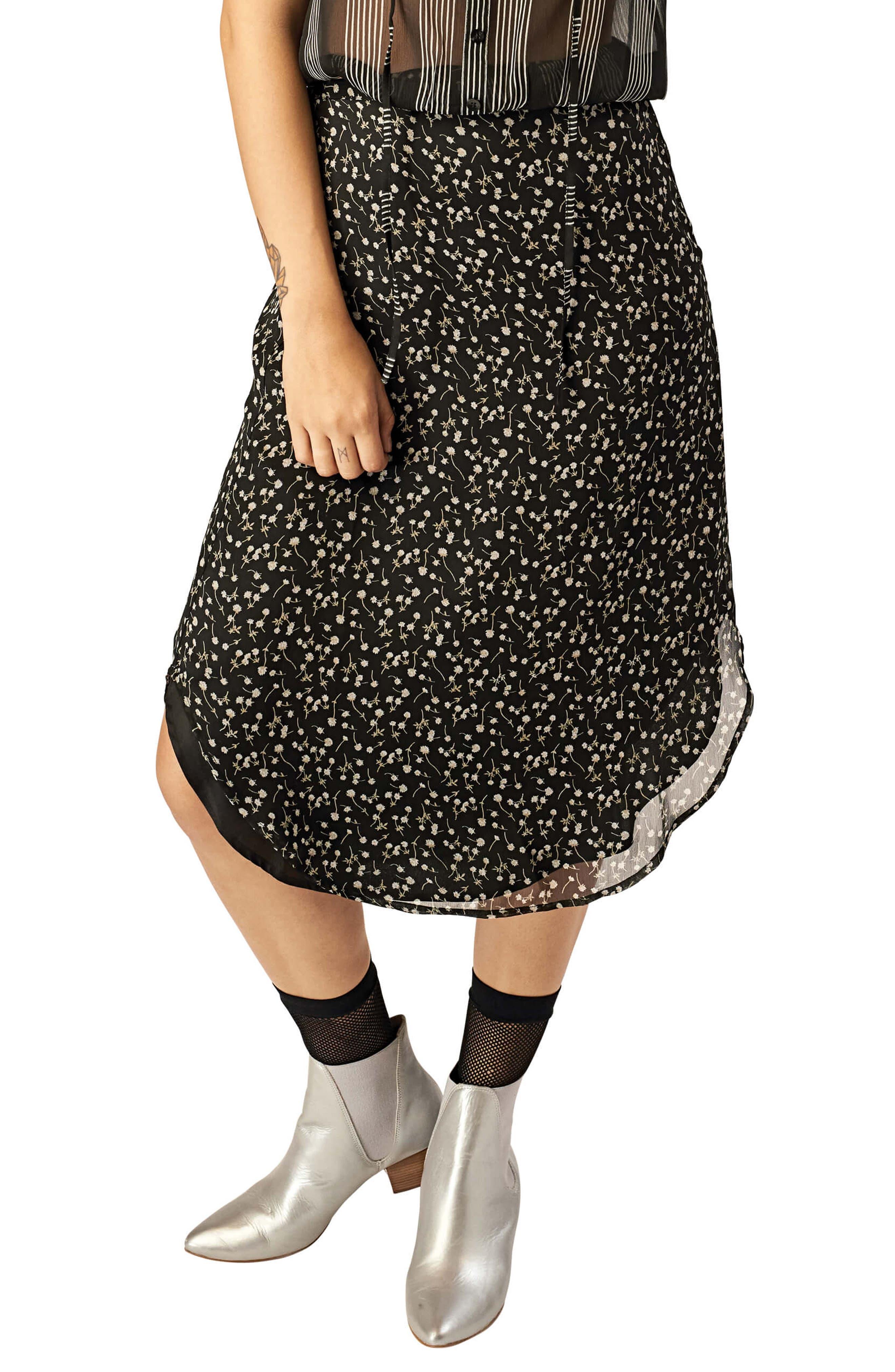 Stone Row Tropickle Skirt, Black