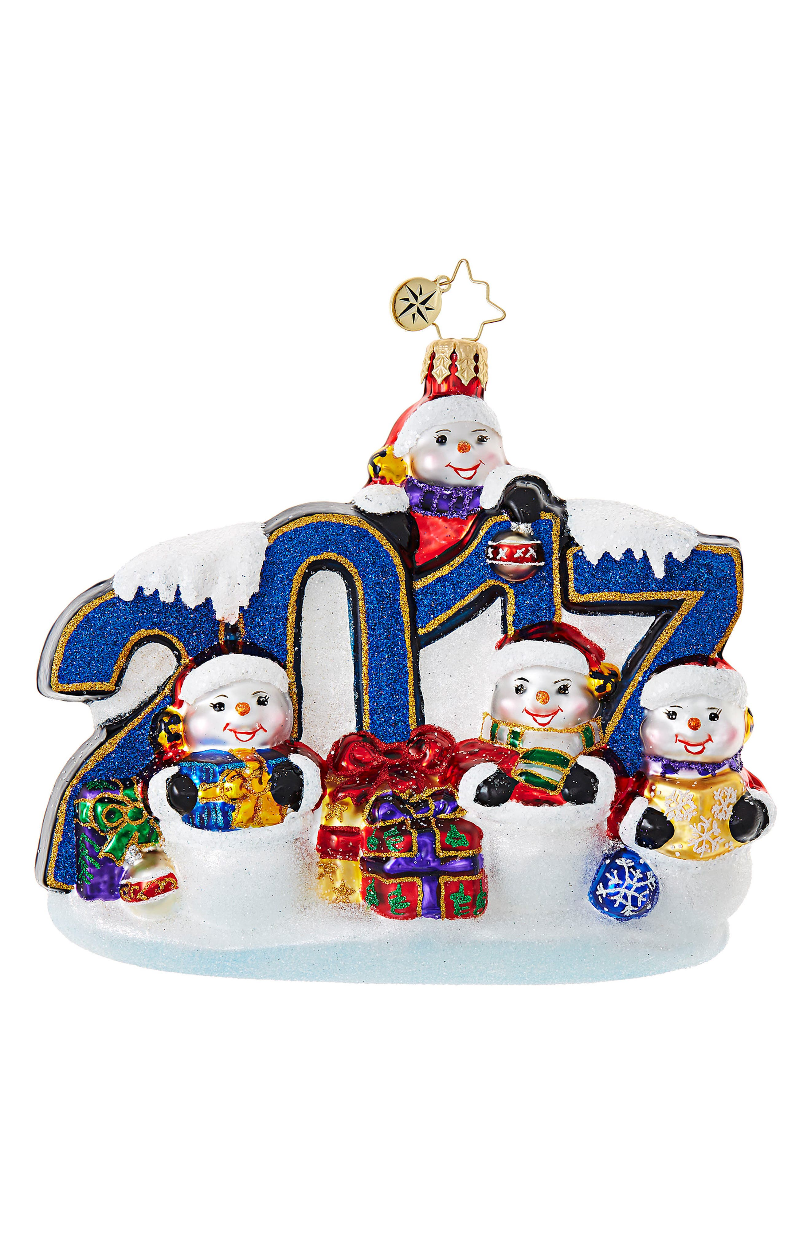 This Year Was Big Glass Ornament,                             Main thumbnail 1, color,                             400