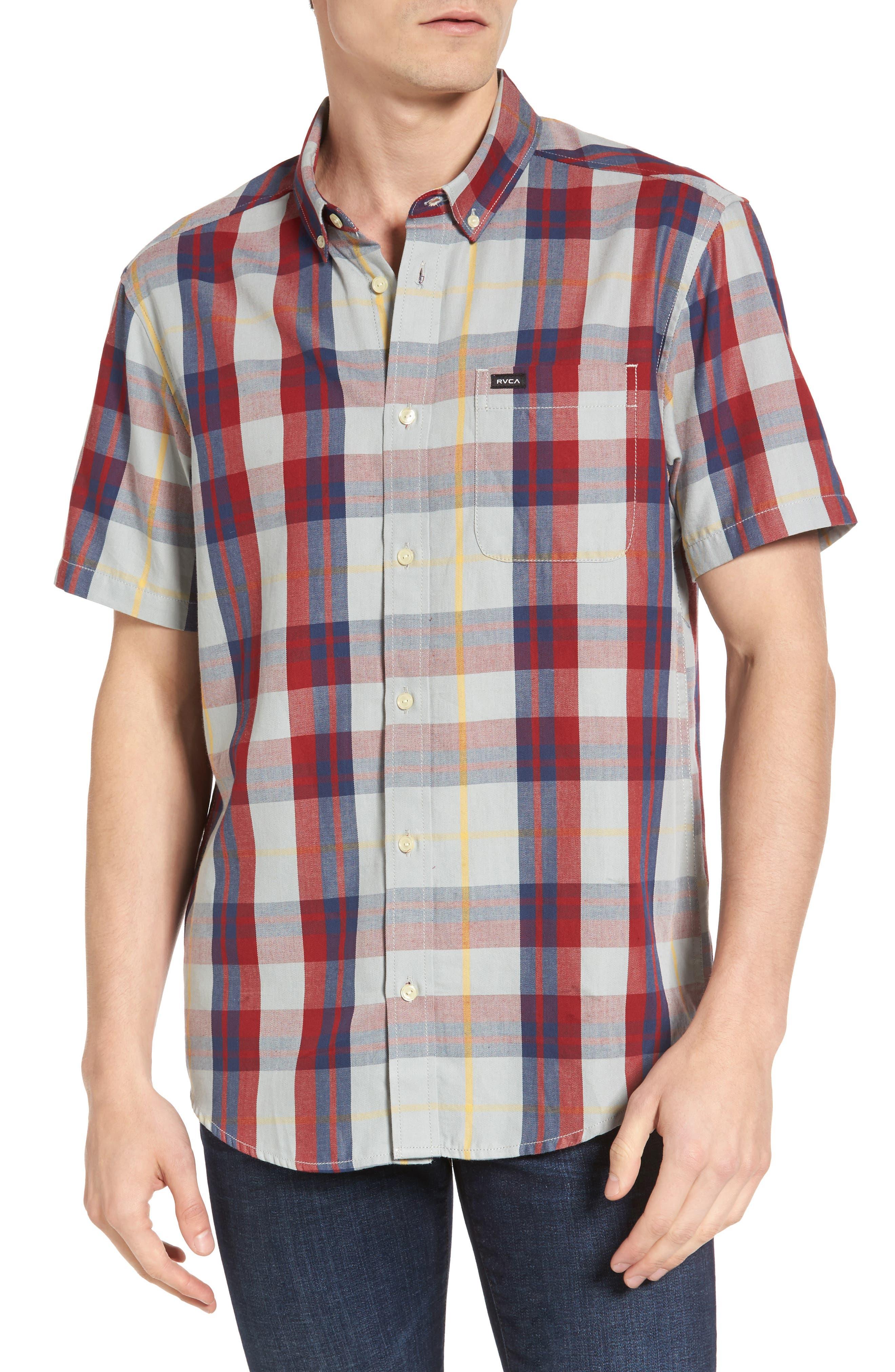 Waas 2 Plaid Woven Shirt,                             Main thumbnail 1, color,