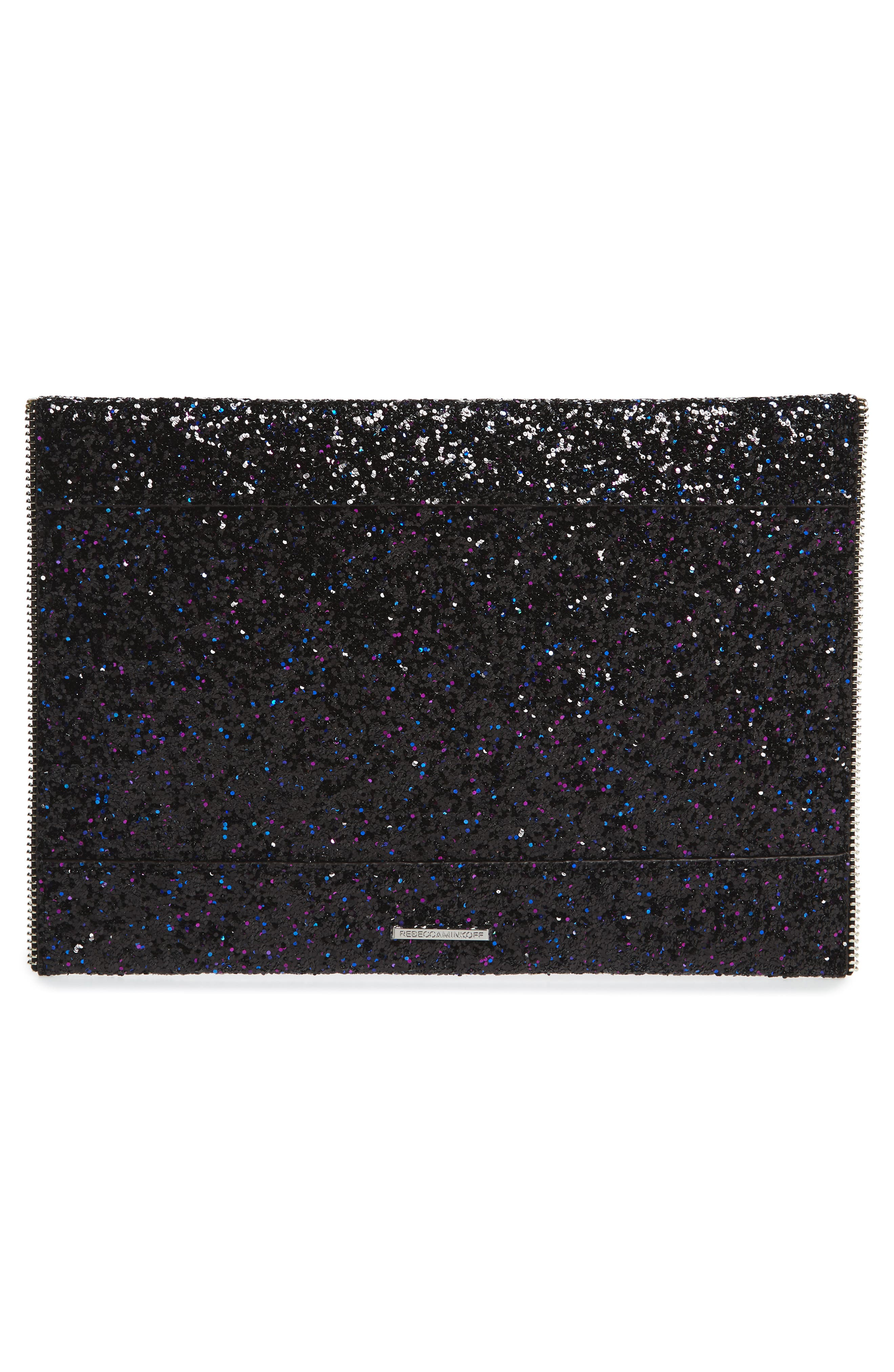 Leo Glitter Envelope Clutch,                             Alternate thumbnail 3, color,                             501