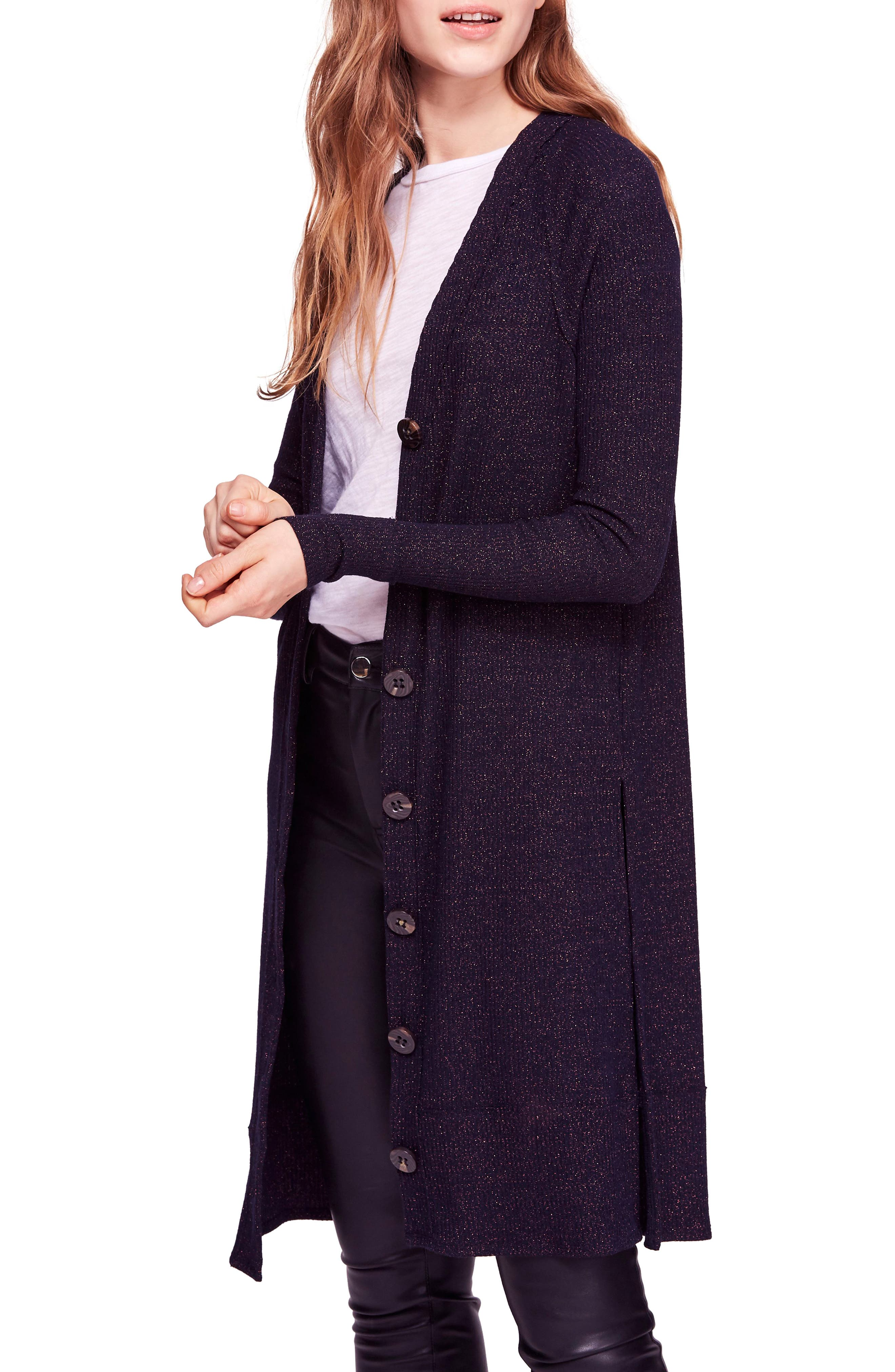 Sparkly Long Cardigan, Main, color, 410