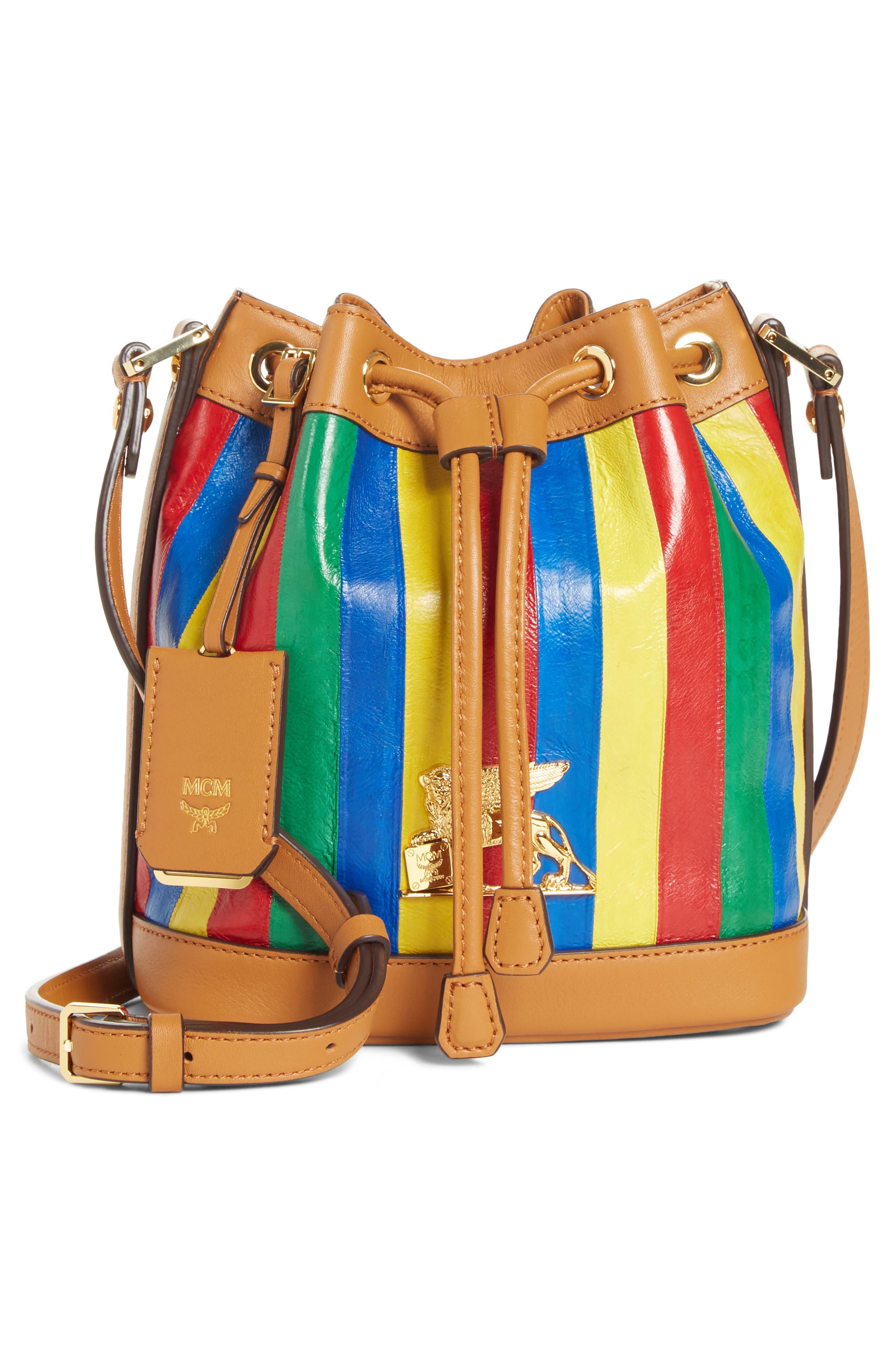 Mini Bucket Bag,                             Main thumbnail 1, color,                             MULTI