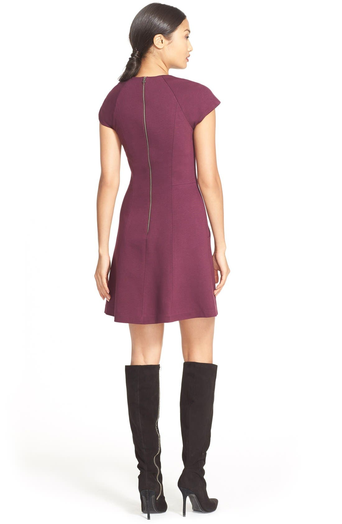ALICE + OLIVIA,                             'Reanne' Fit & Flare Dress,                             Alternate thumbnail 2, color,                             502