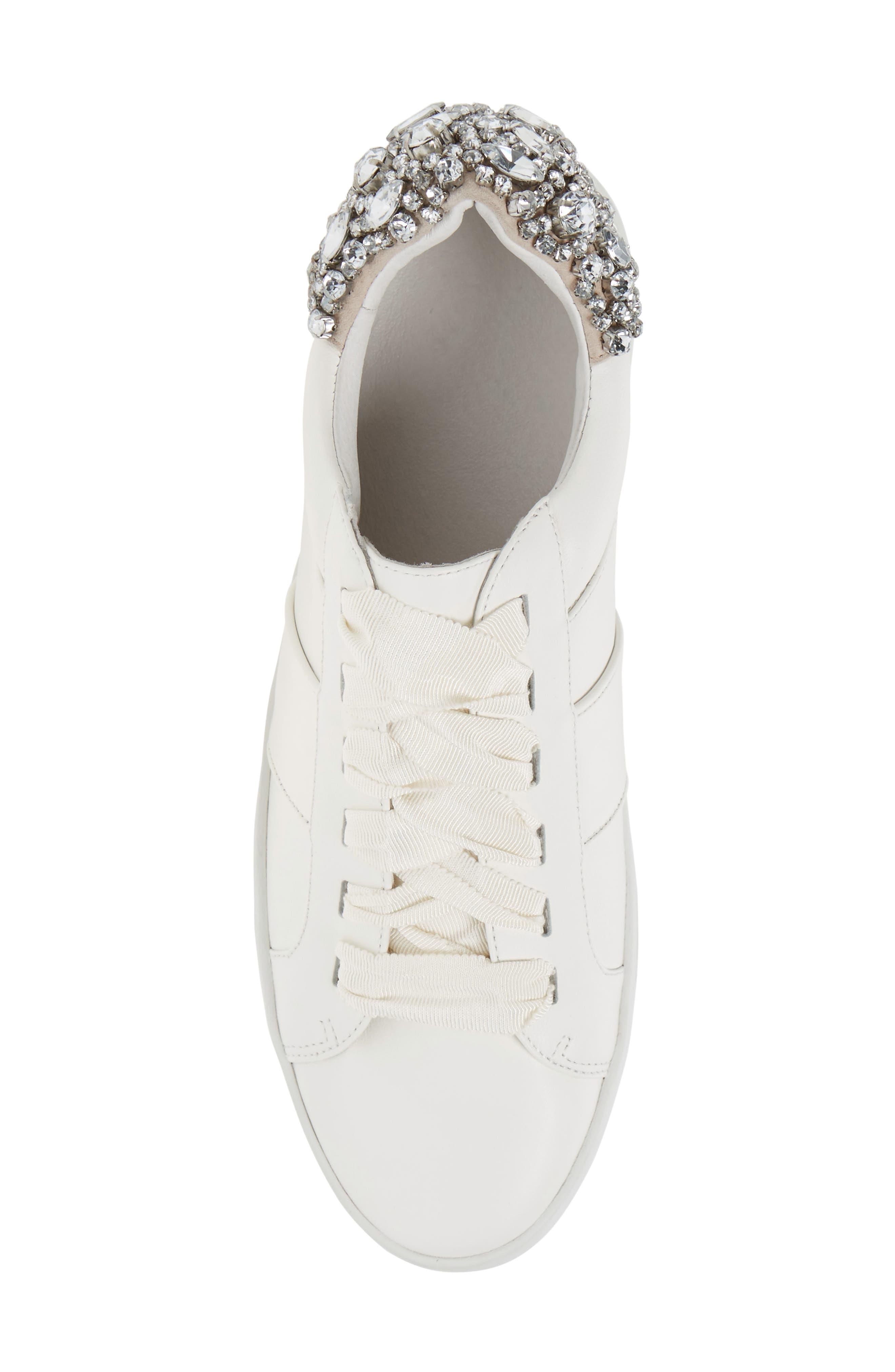 Darena Crystal Embellished Sneaker,                             Alternate thumbnail 10, color,