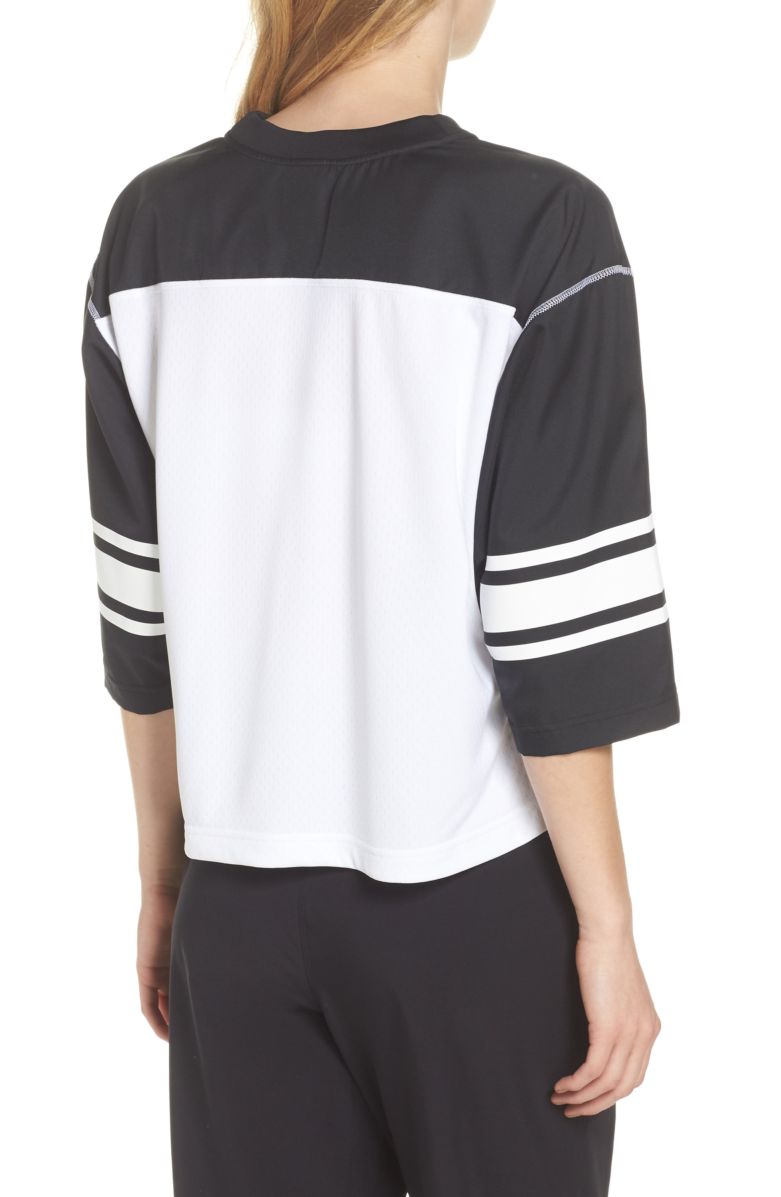 NikeLab Collection Football Top,                             Alternate thumbnail 2, color,                             BLACK/ WHITE/ BLACK