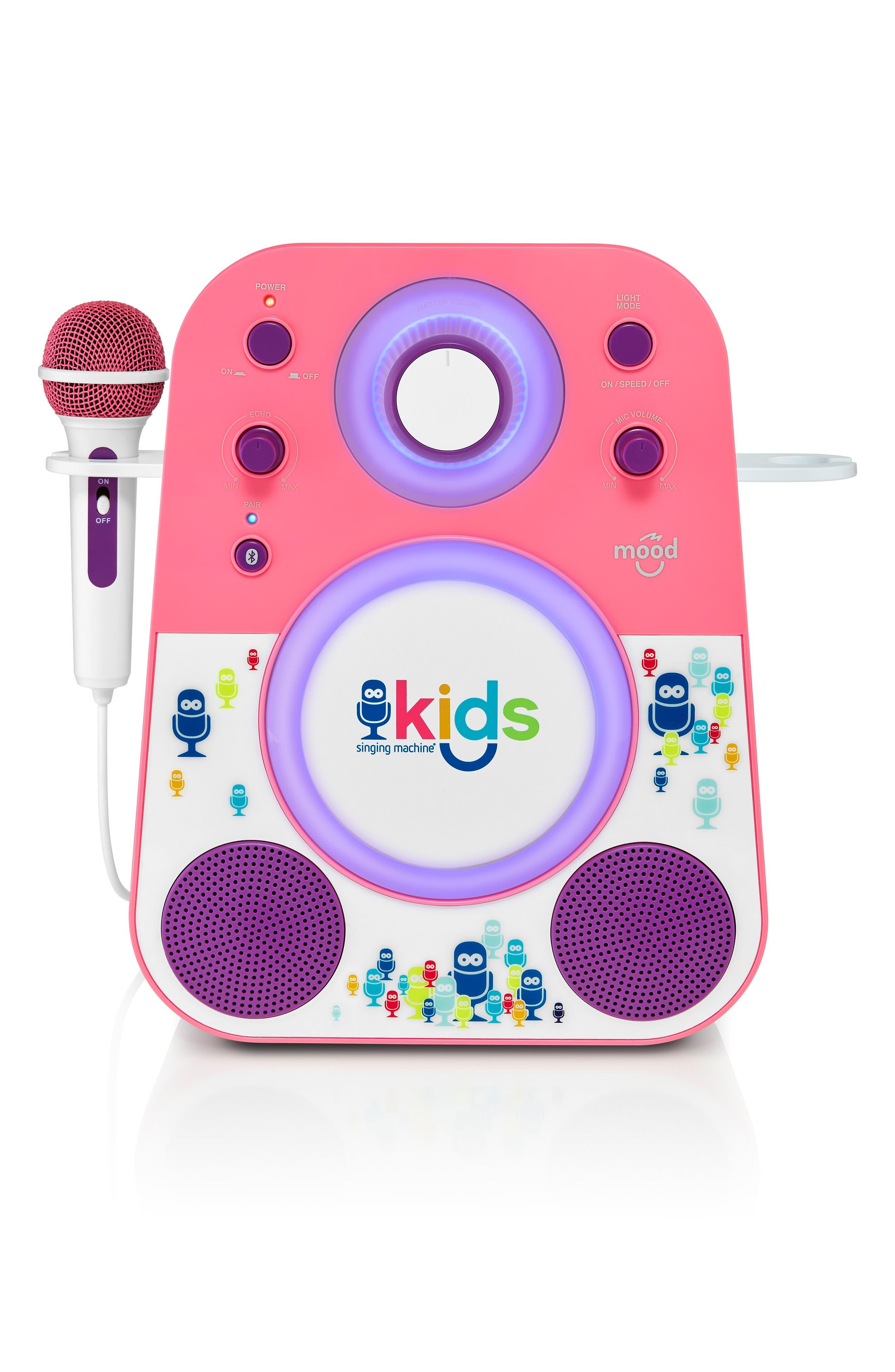 Kids Mood Karaoke System,                             Main thumbnail 1, color,                             PINK PURPLE
