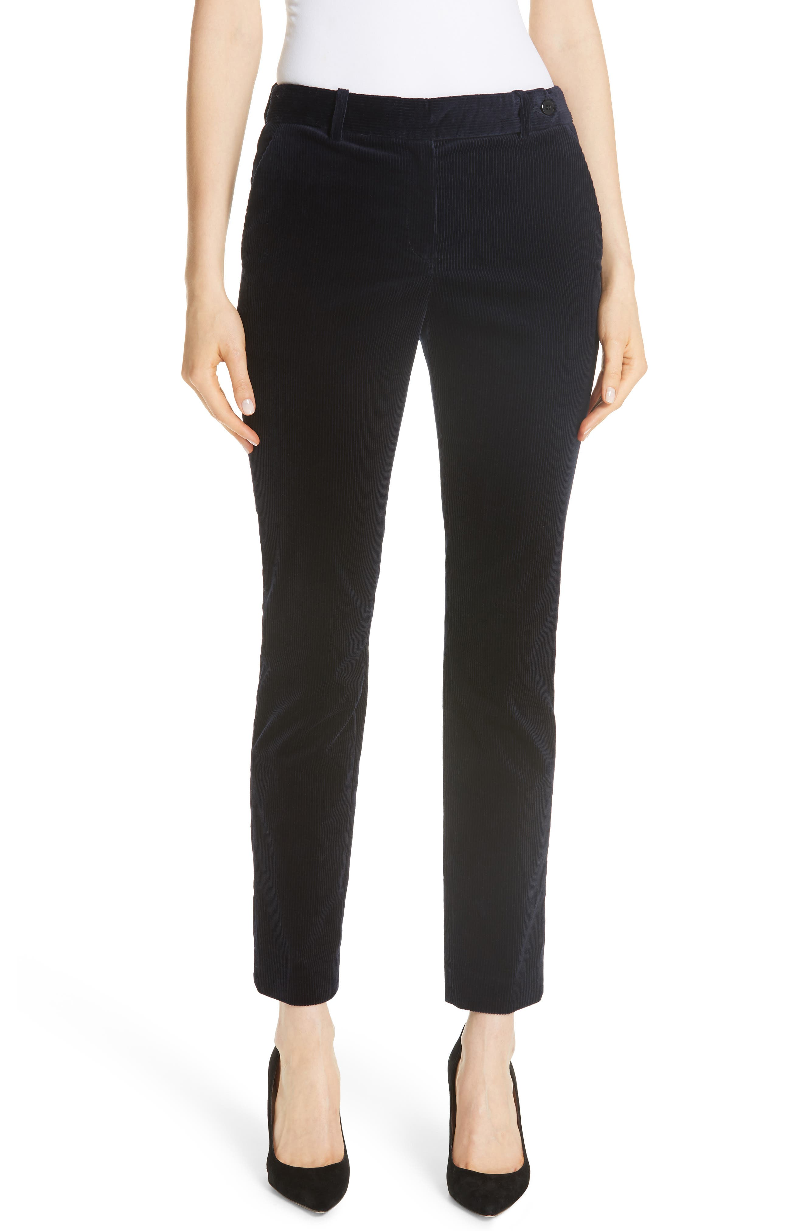 Slim Corduroy Trousers,                         Main,                         color, DEEP NAVY