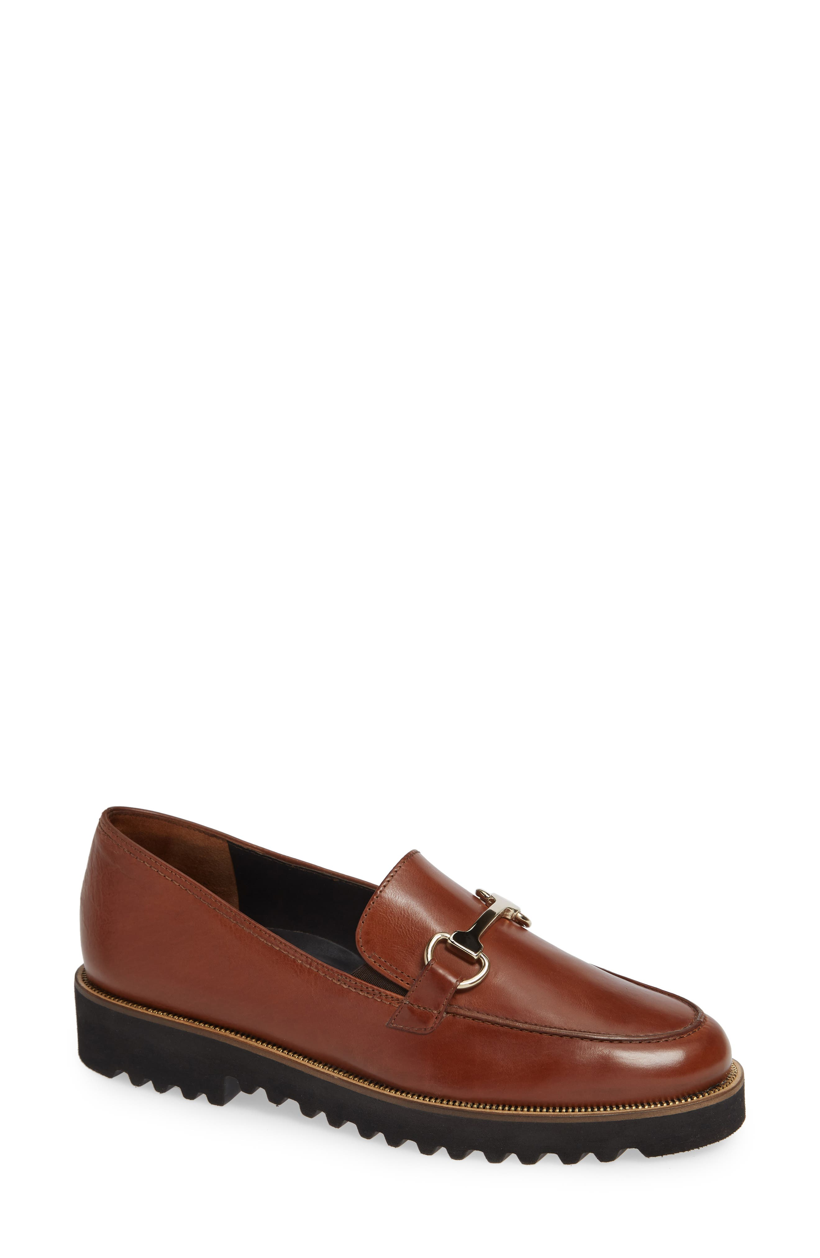 Topper Loafer,                         Main,                         color, COGNAC LEATHER
