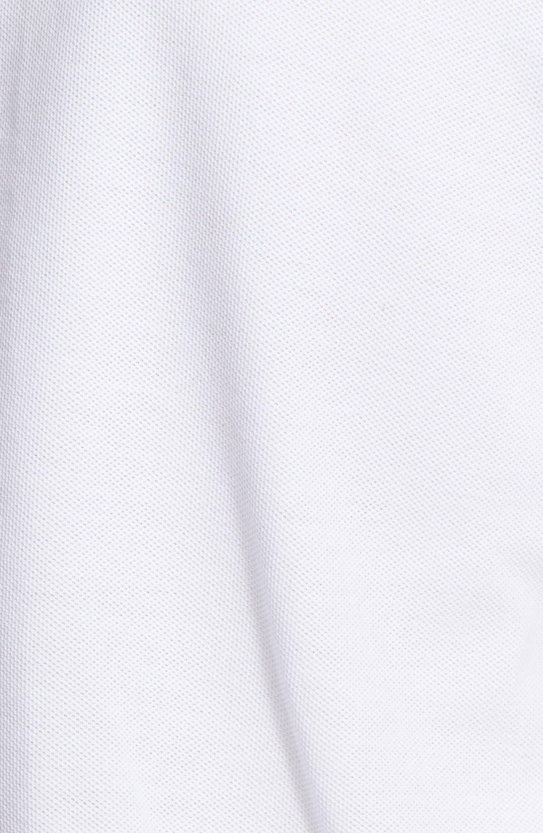 Stitched Collar Cotton Piqué Polo,                             Alternate thumbnail 8, color,                             100