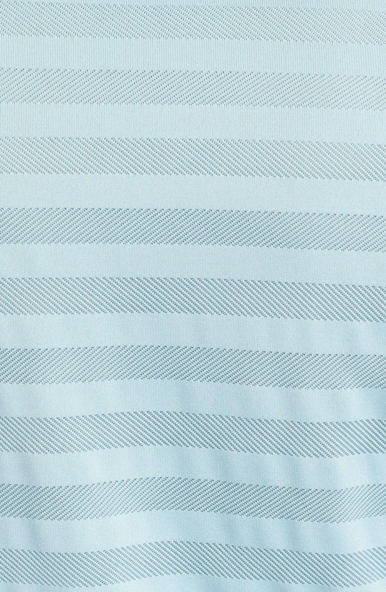 Dry Stripe Polo,                             Alternate thumbnail 5, color,                             OCEAN BLISS/ SILVER