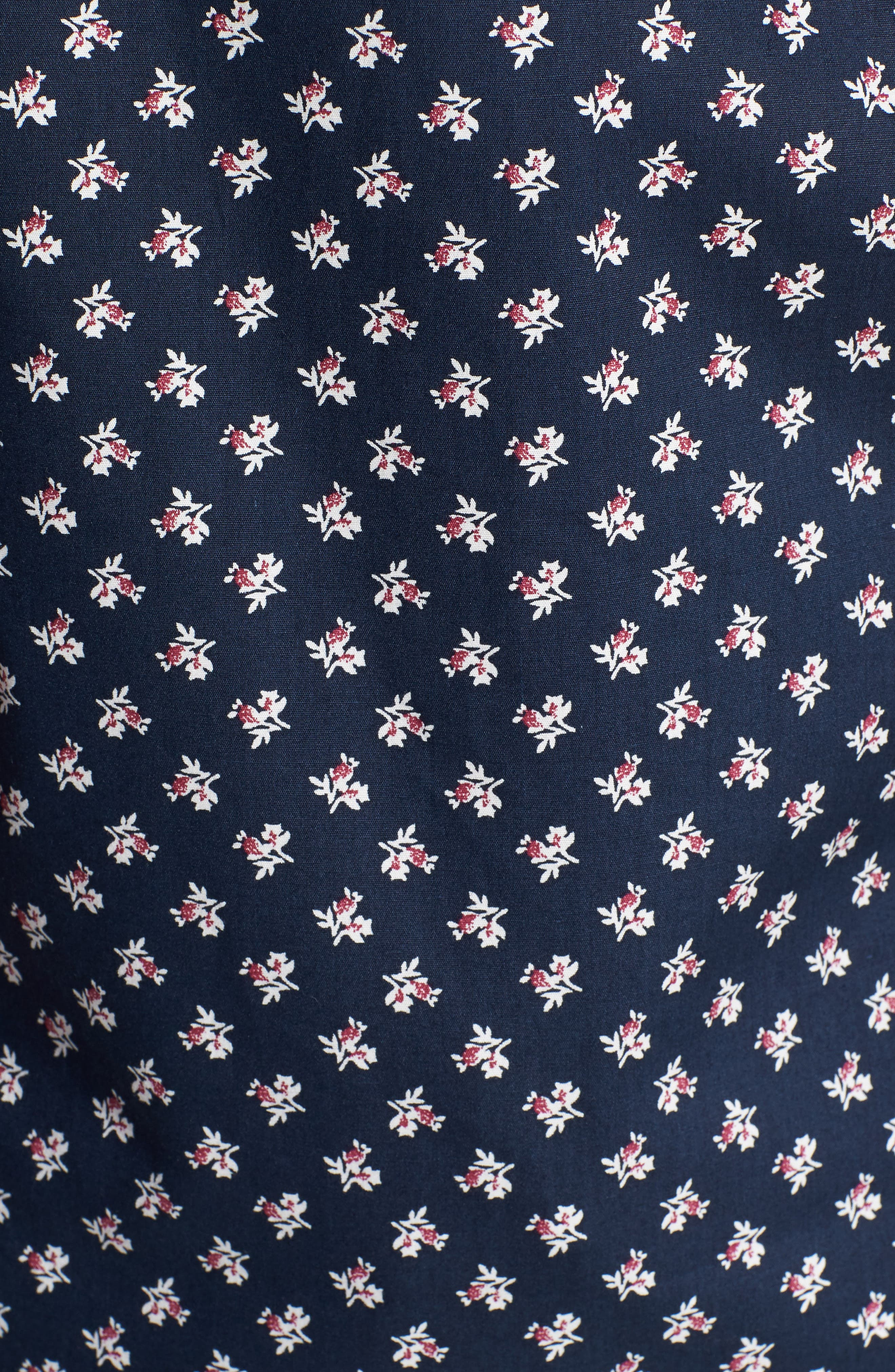 'Crossfire' Floral Print Short Sleeve Woven Shirt,                             Alternate thumbnail 9, color,