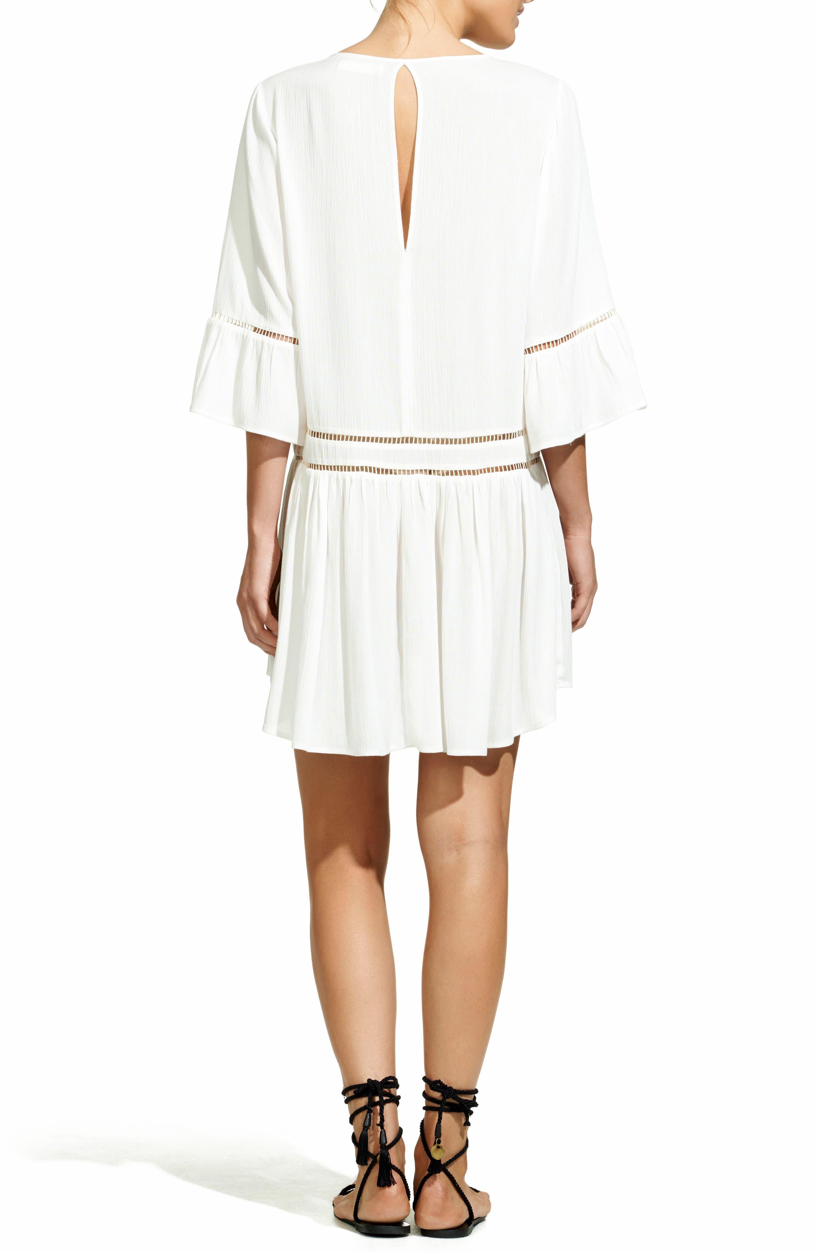 Agatha Cover-Up Dress,                             Alternate thumbnail 2, color,                             WHITE