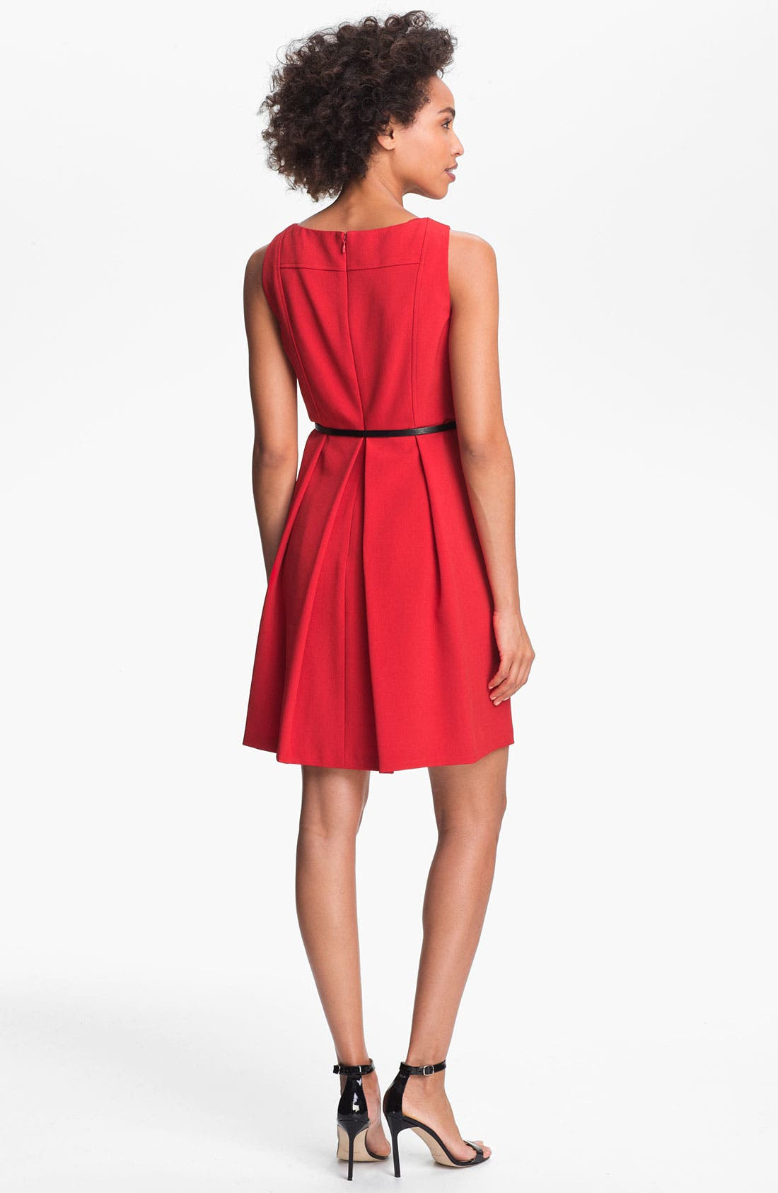 ADRIANNA PAPELL,                             Seamed A-Line Dress,                             Alternate thumbnail 2, color,                             600