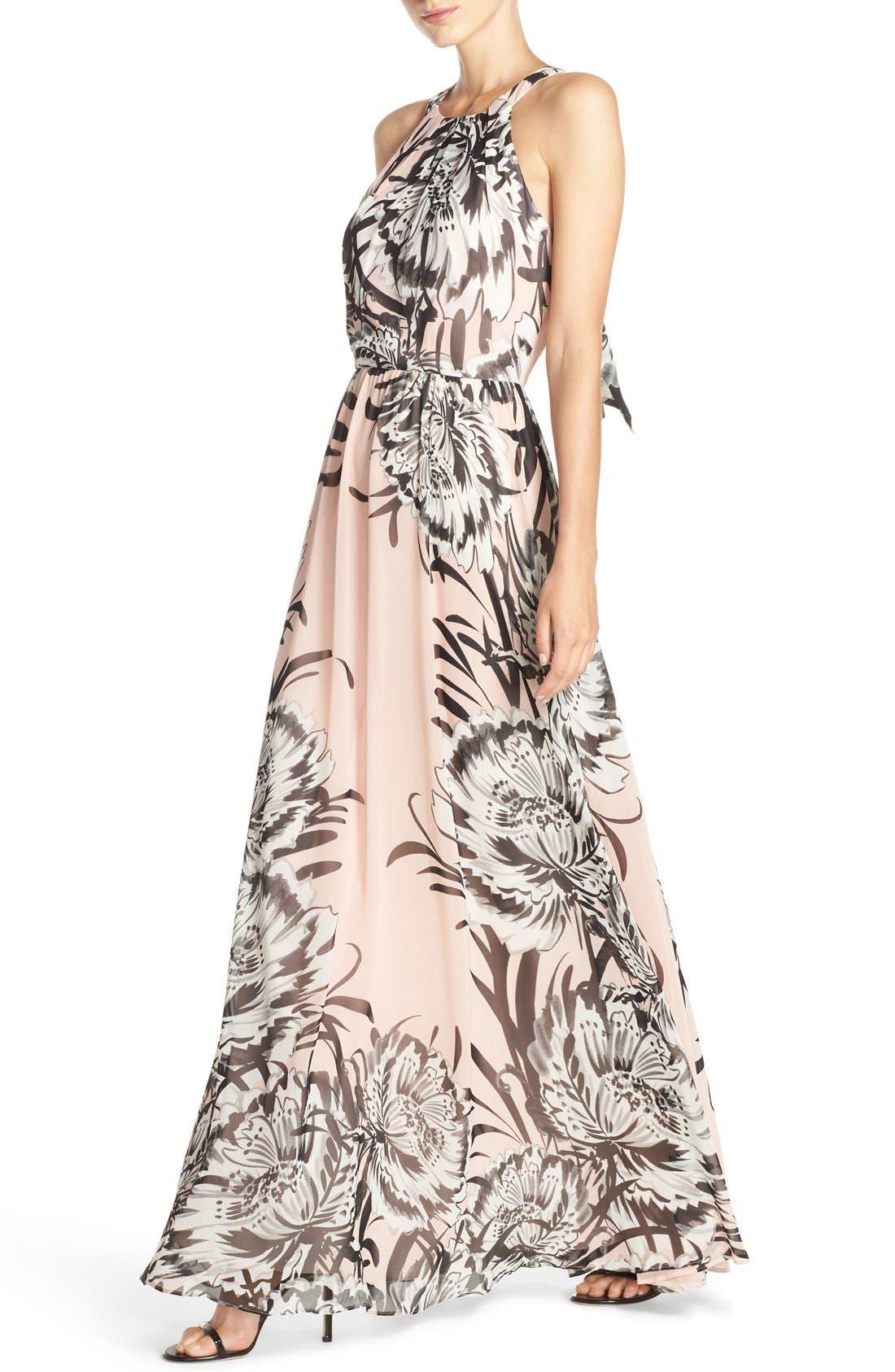 Chiffon Maxi Dress,                             Alternate thumbnail 9, color,                             BLUSH