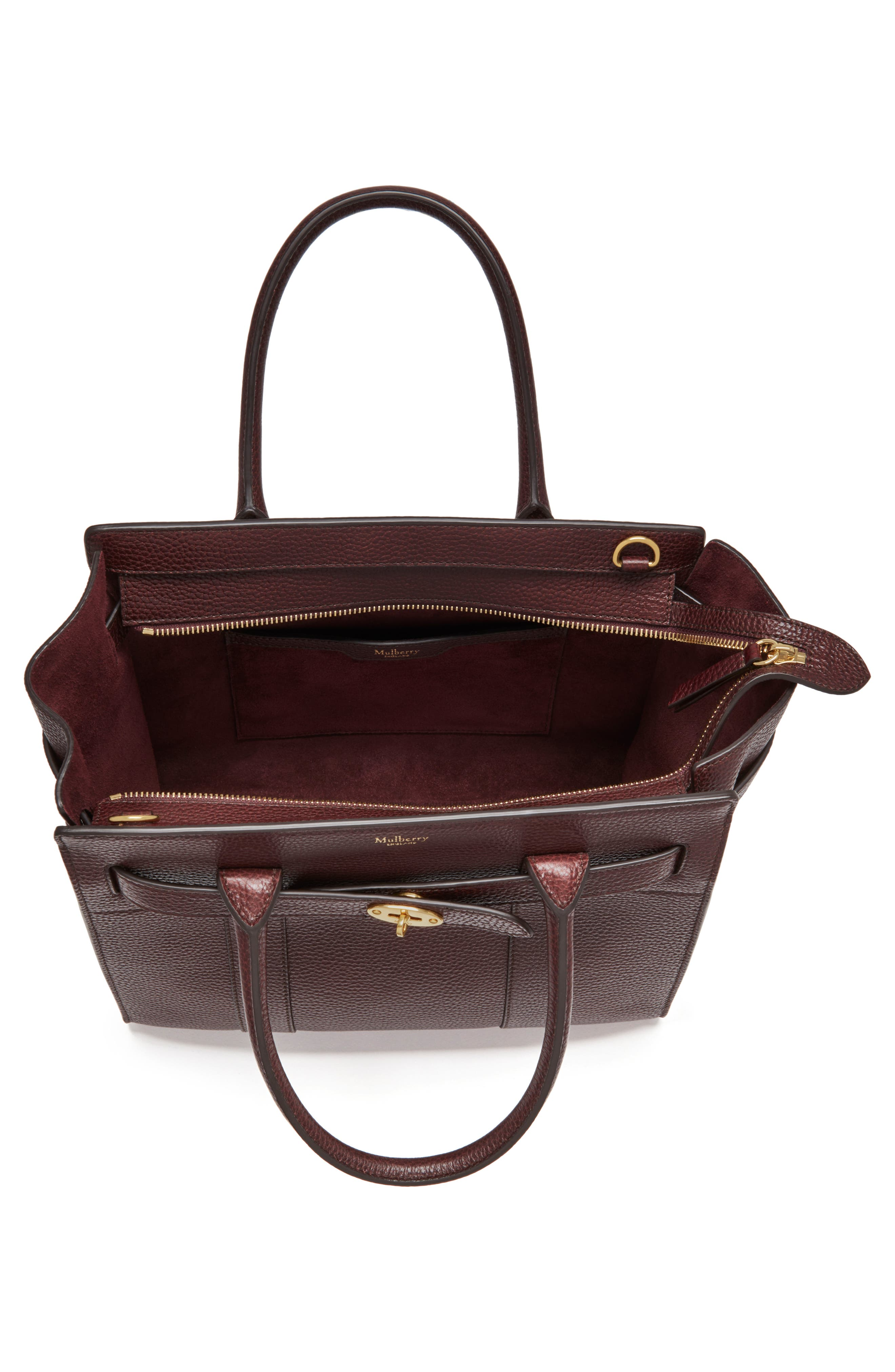 Large Bayswater Leather Tote,                             Alternate thumbnail 4, color,                             601