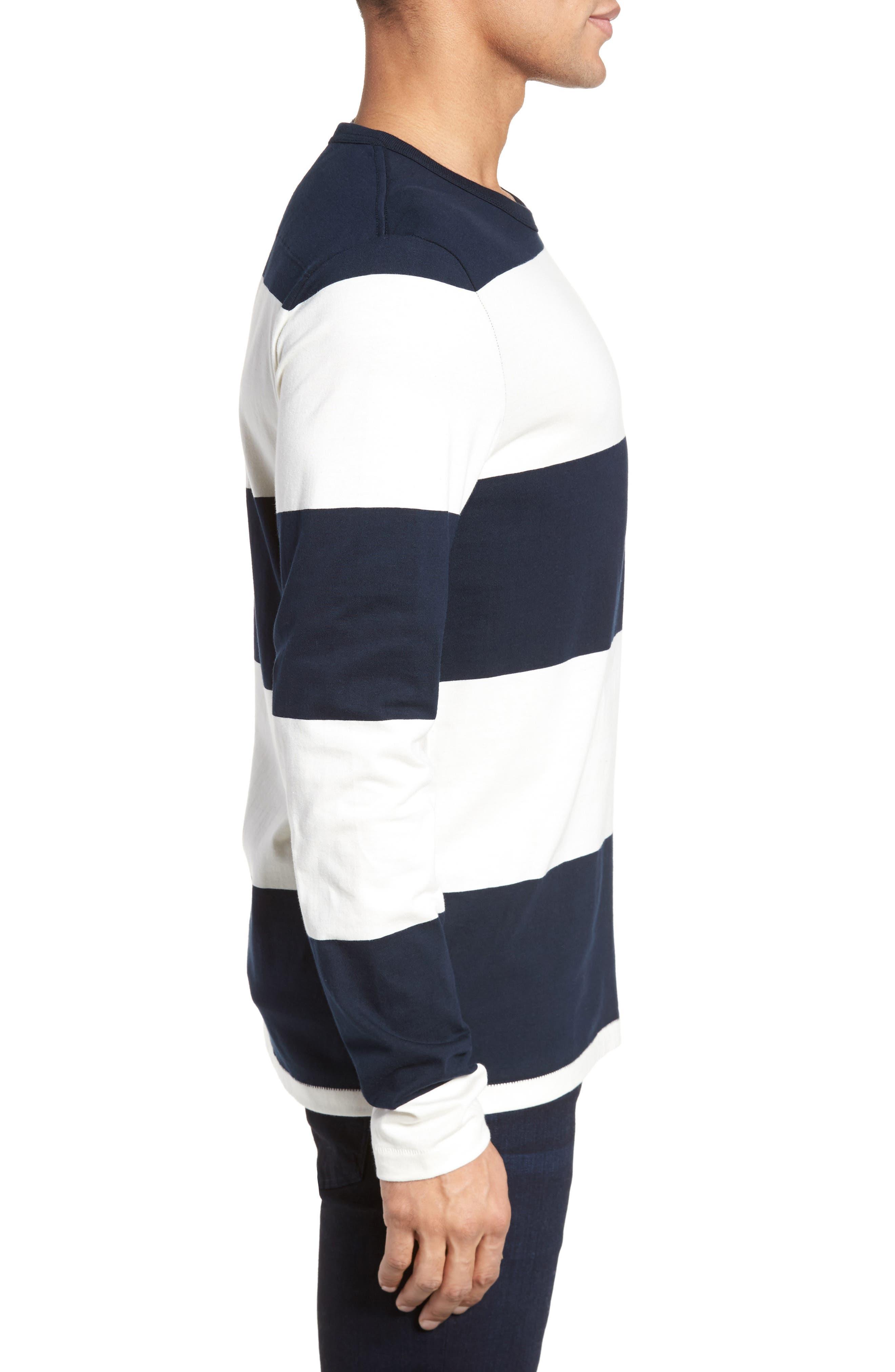 Regular Fit Block Stripe Shirt,                             Alternate thumbnail 3, color,                             100
