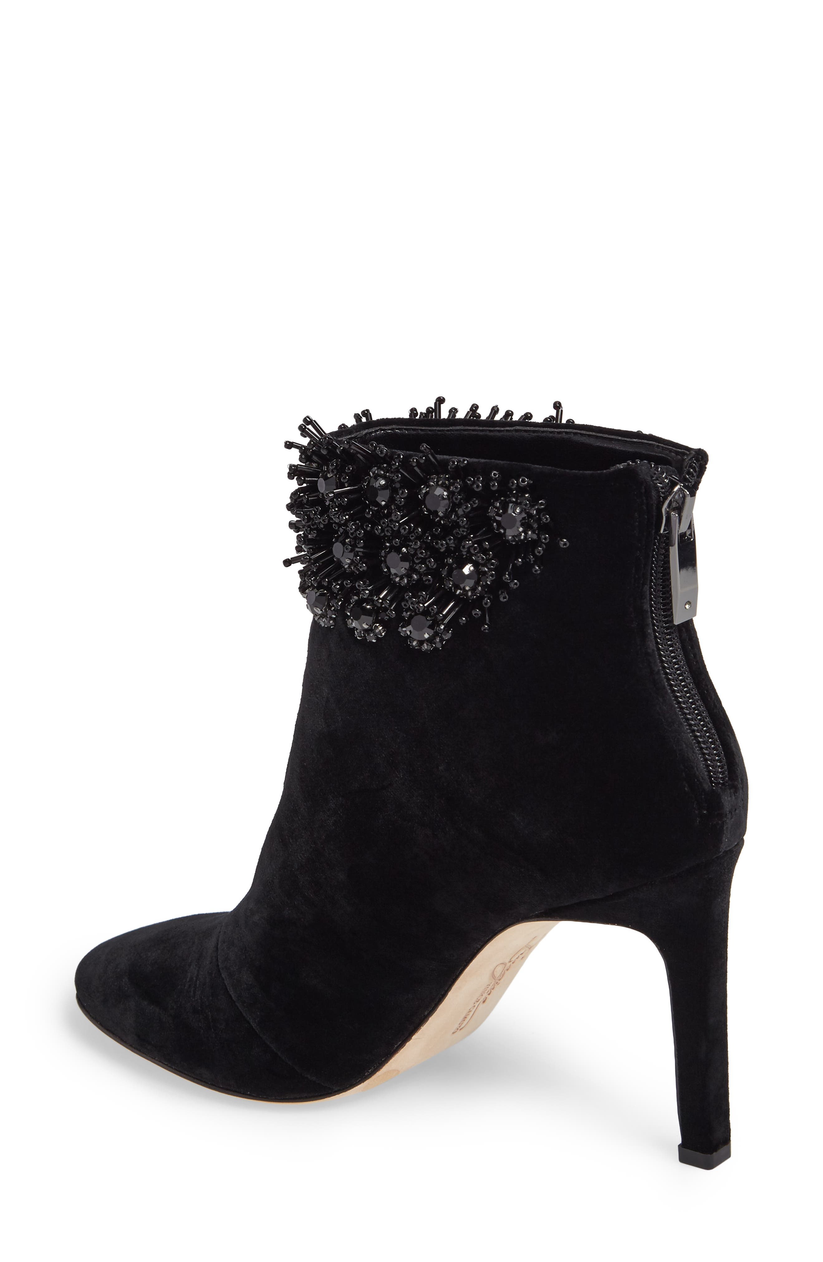 Imagine Vince Camuto Lura Crystal Flower Bootie,                             Alternate thumbnail 2, color,                             001