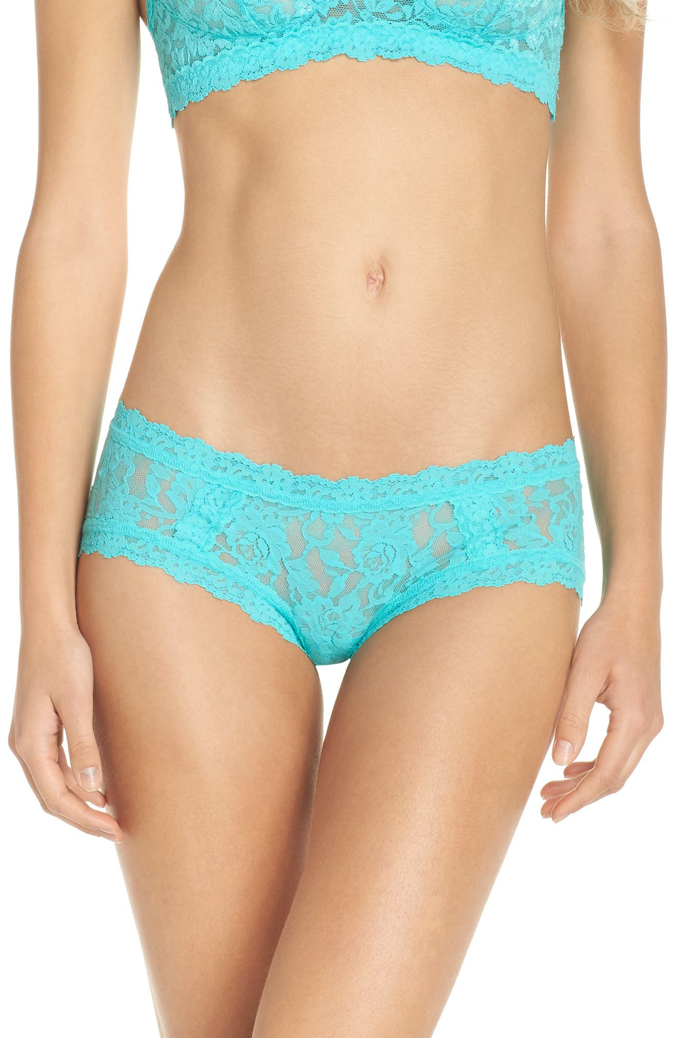 Floral Stretch Lace Girlkini,                             Main thumbnail 3, color,