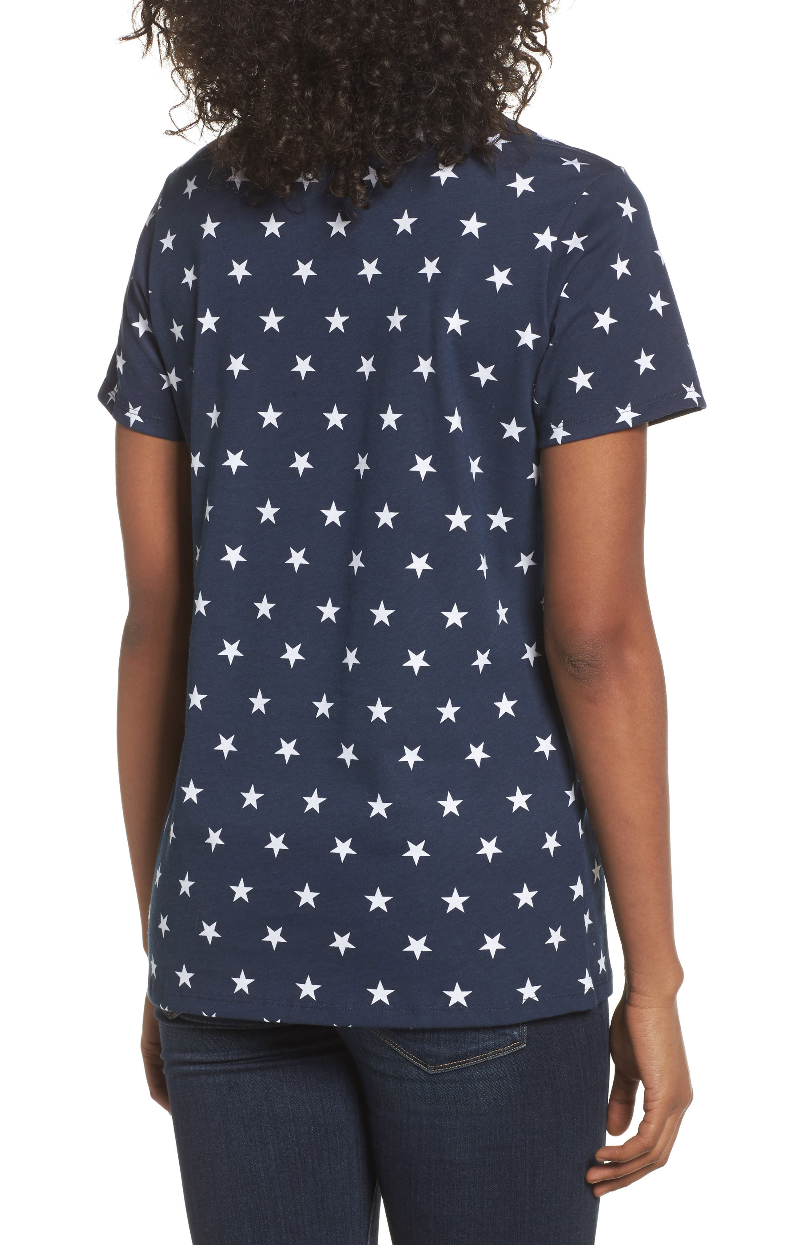 International Collection Tee,                             Alternate thumbnail 2, color,                             COSMIC BLUE STAR PRINT